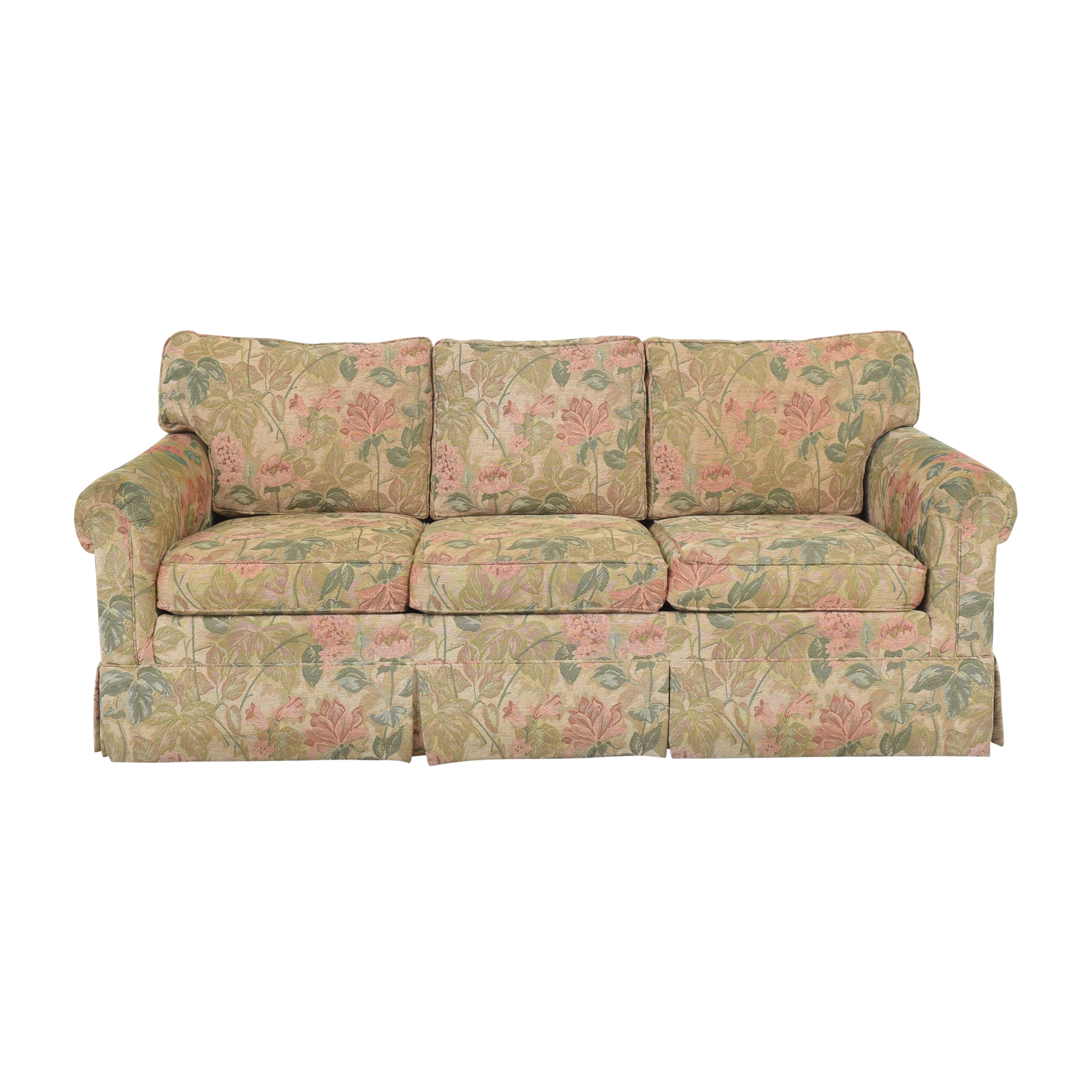 Ethan Allen Ethan Allen Floral Skirted Sofa nj