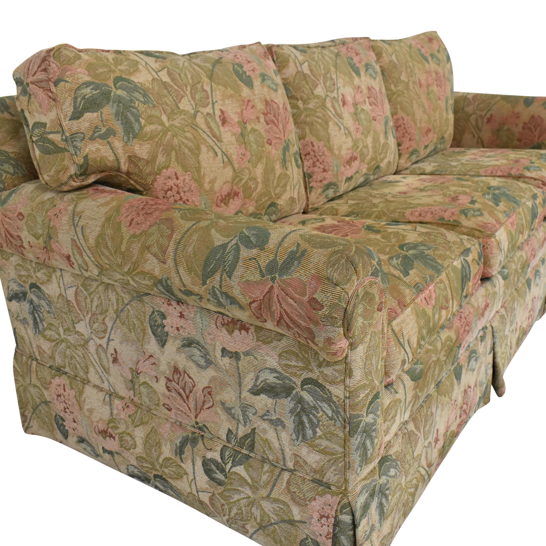 Ethan Allen Ethan Allen Floral Skirted Sofa discount