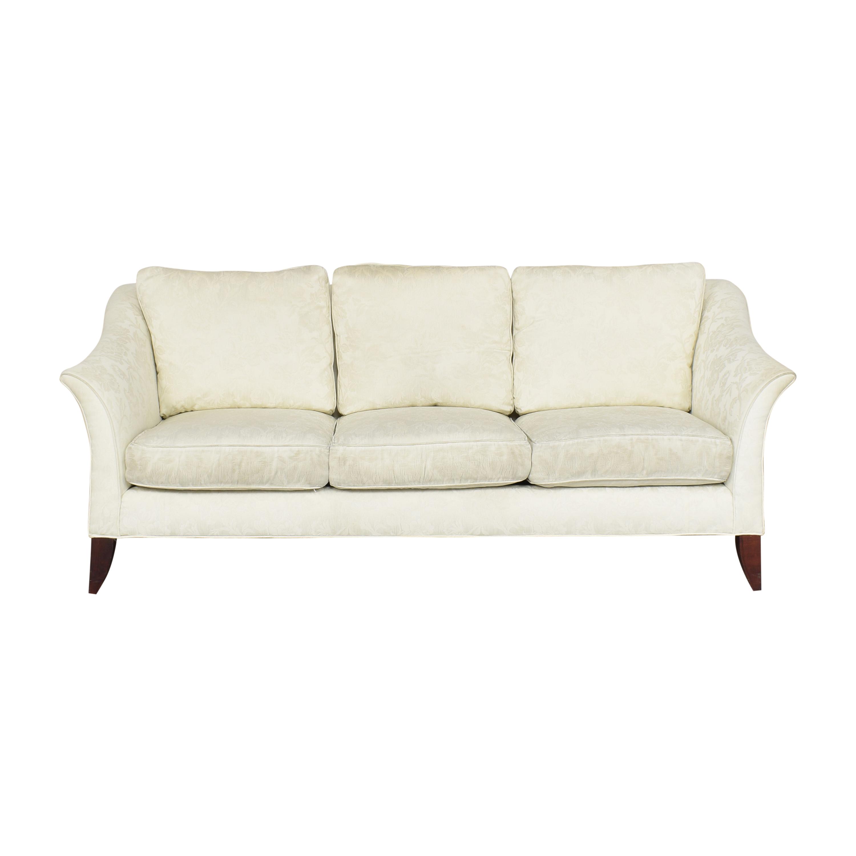 shop Maurice Villency Three Cushion Sofa Maurice Villency