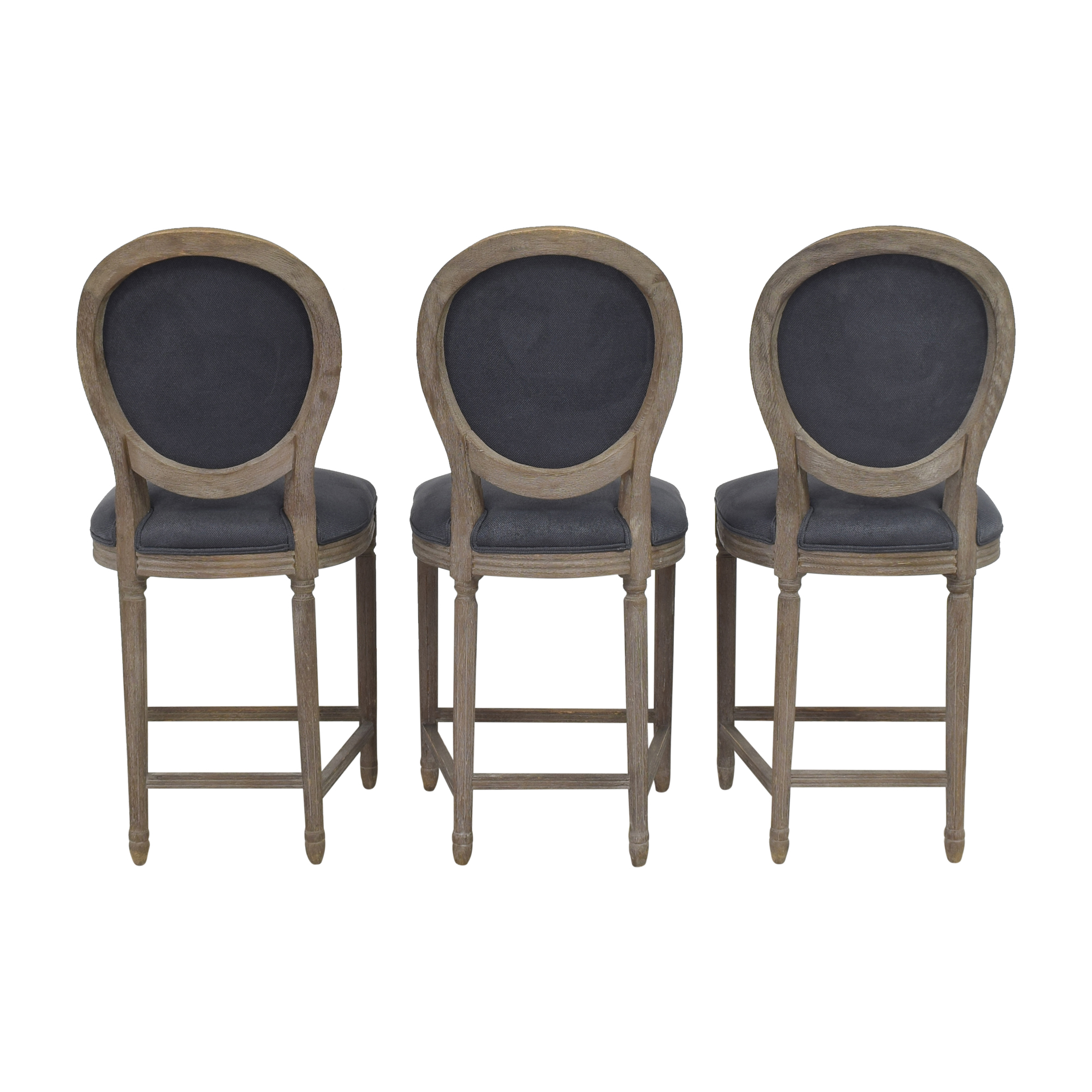 Restoration Hardware Restoration Hardware Vintage French Round Counter Stools Dining Chairs