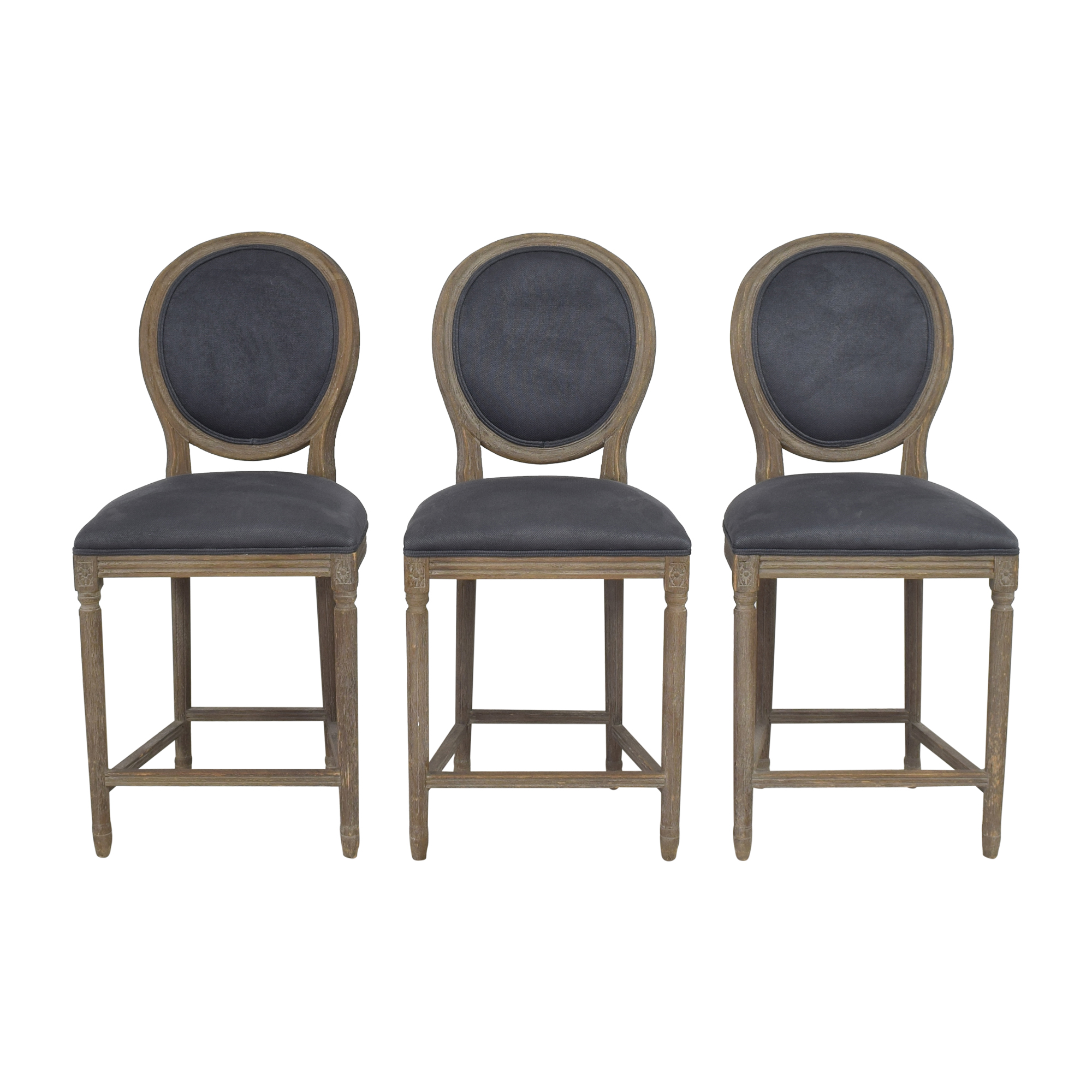 buy Restoration Hardware Restoration Hardware Vintage French Round Counter Stools online