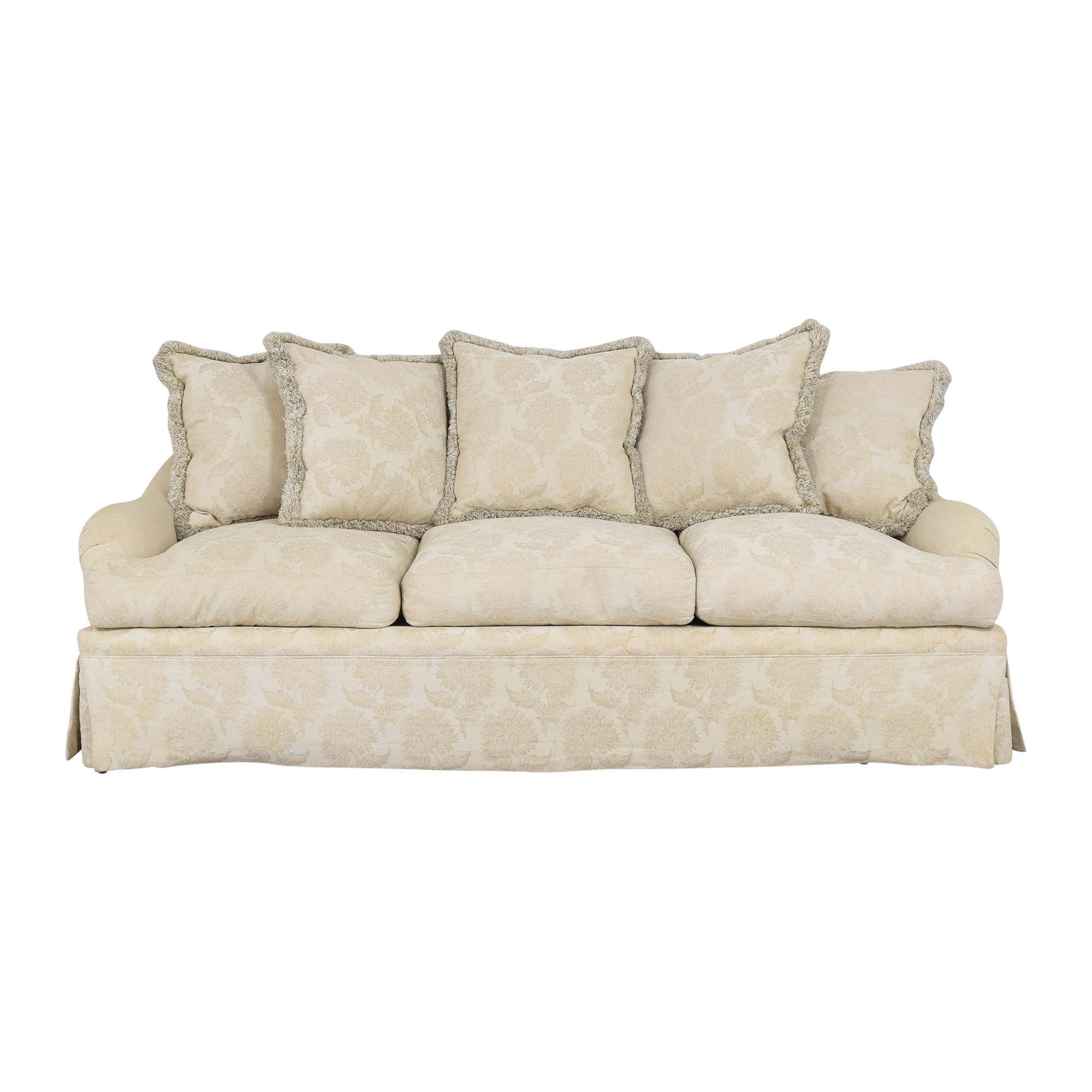 Bloomingdale's Bloomingdale's Three Cushion Skirted Sofa ma