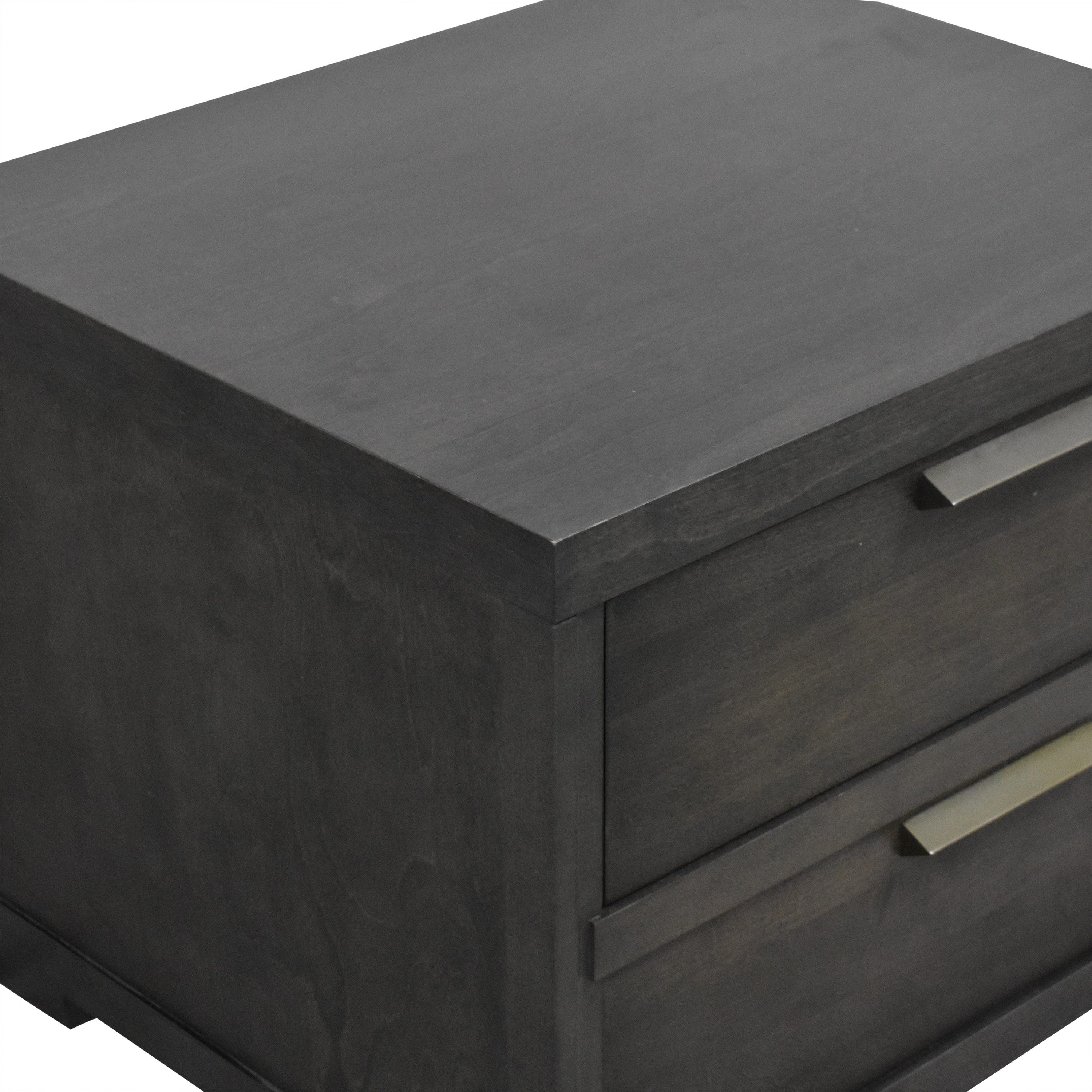 shop Baronet Silver Two Drawer Nightstand Baronet Tables
