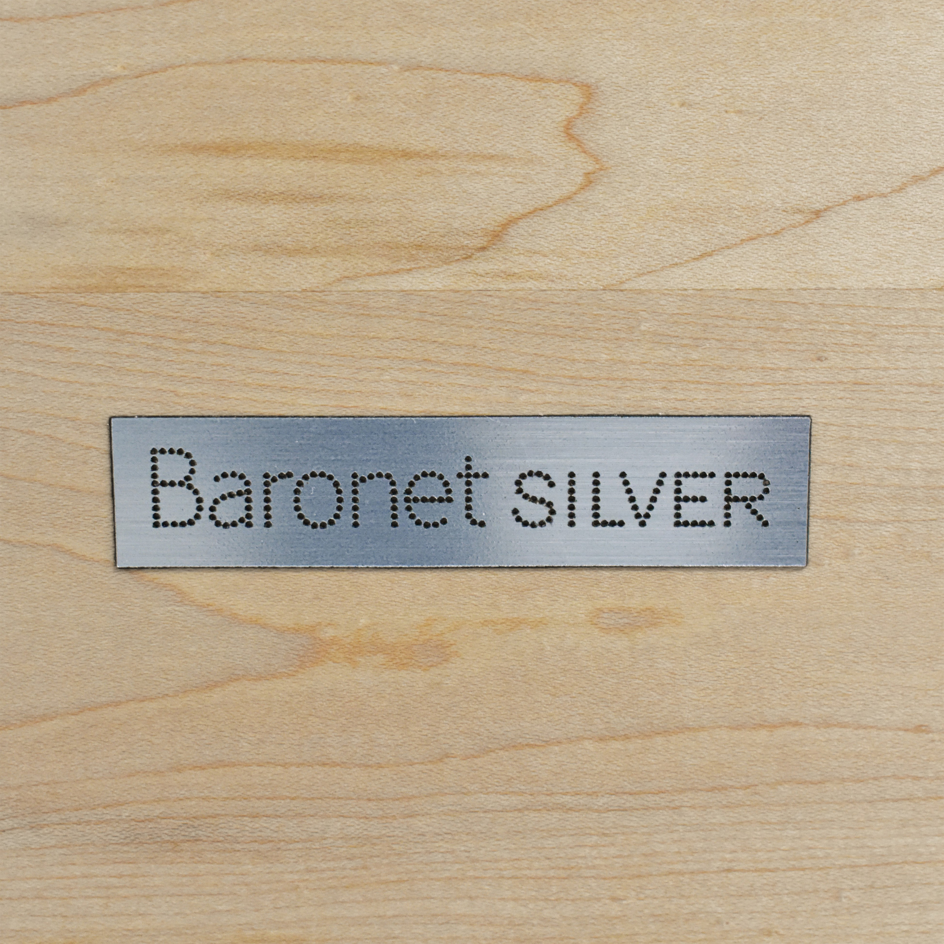 Baronet Baronet Silver Two Drawer Nightstand End Tables