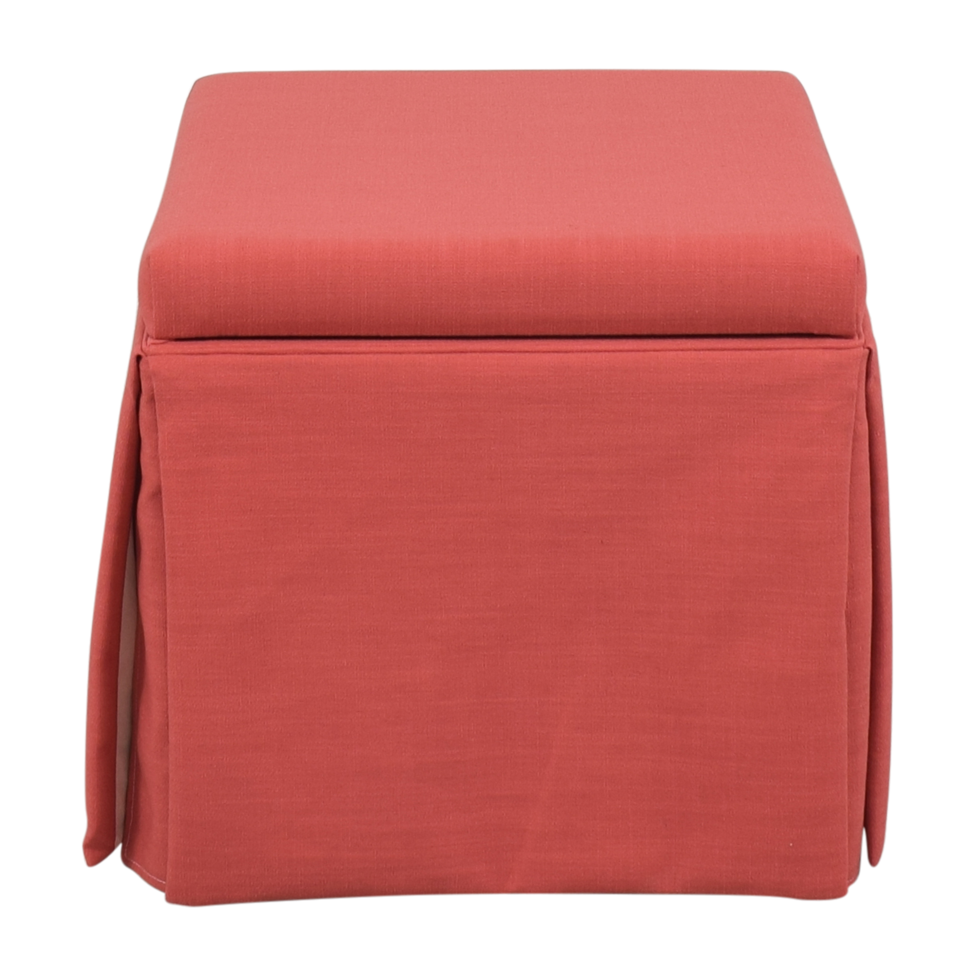 The Inside The Inside Skirted Storage Ottoman pa