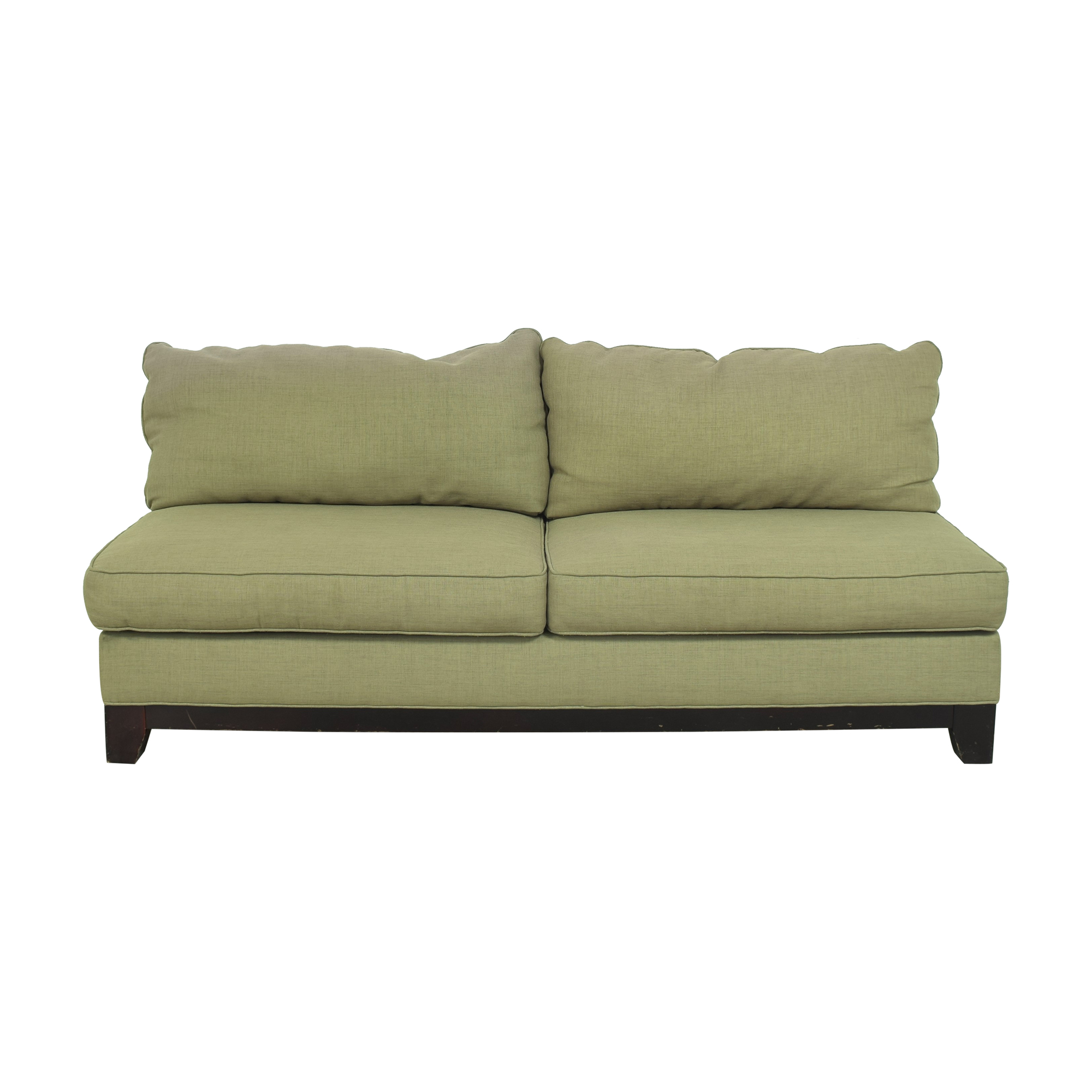 Bauhaus Furniture Armless Two Cushion Sofa / Classic Sofas