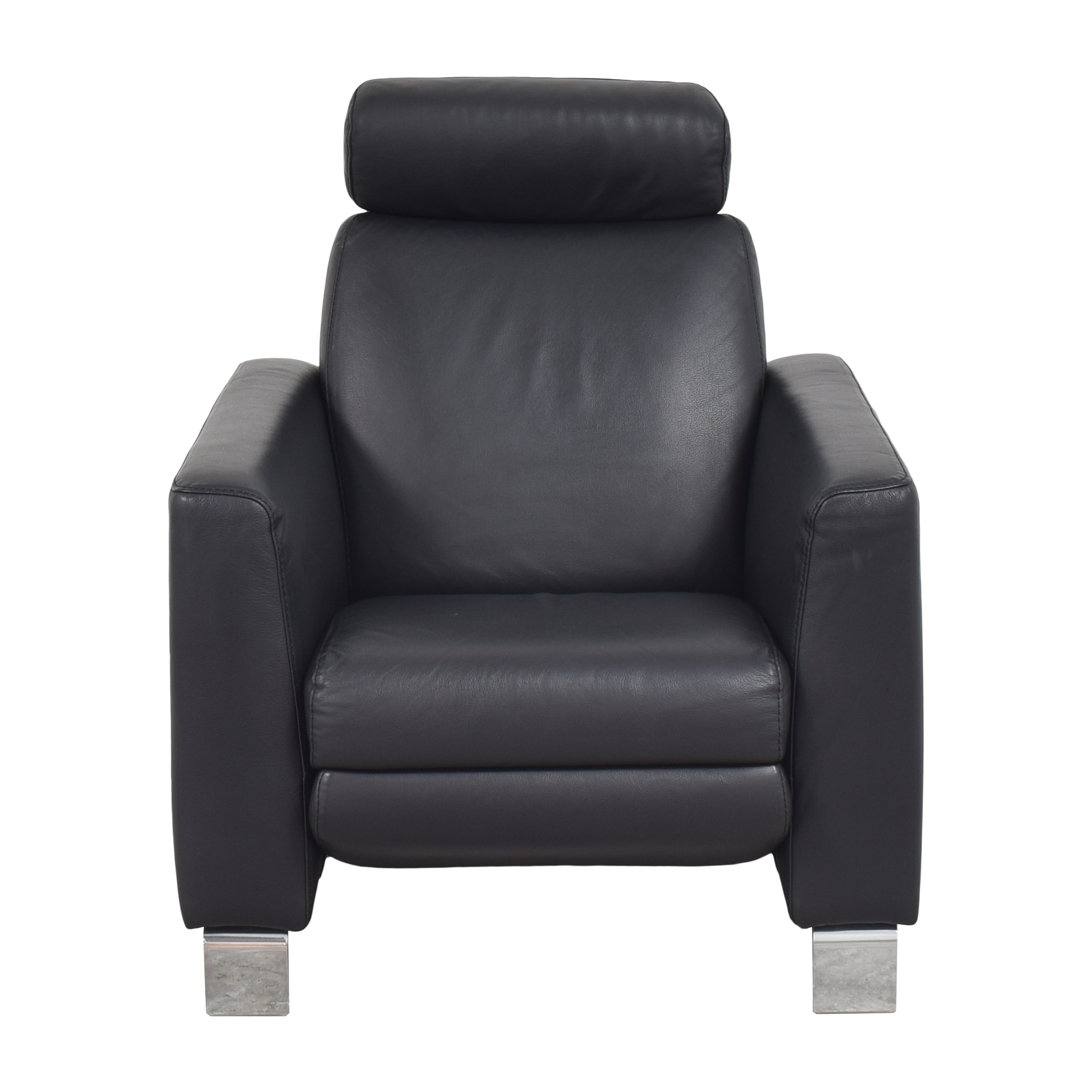 Modern Reclining Armchair black and silver