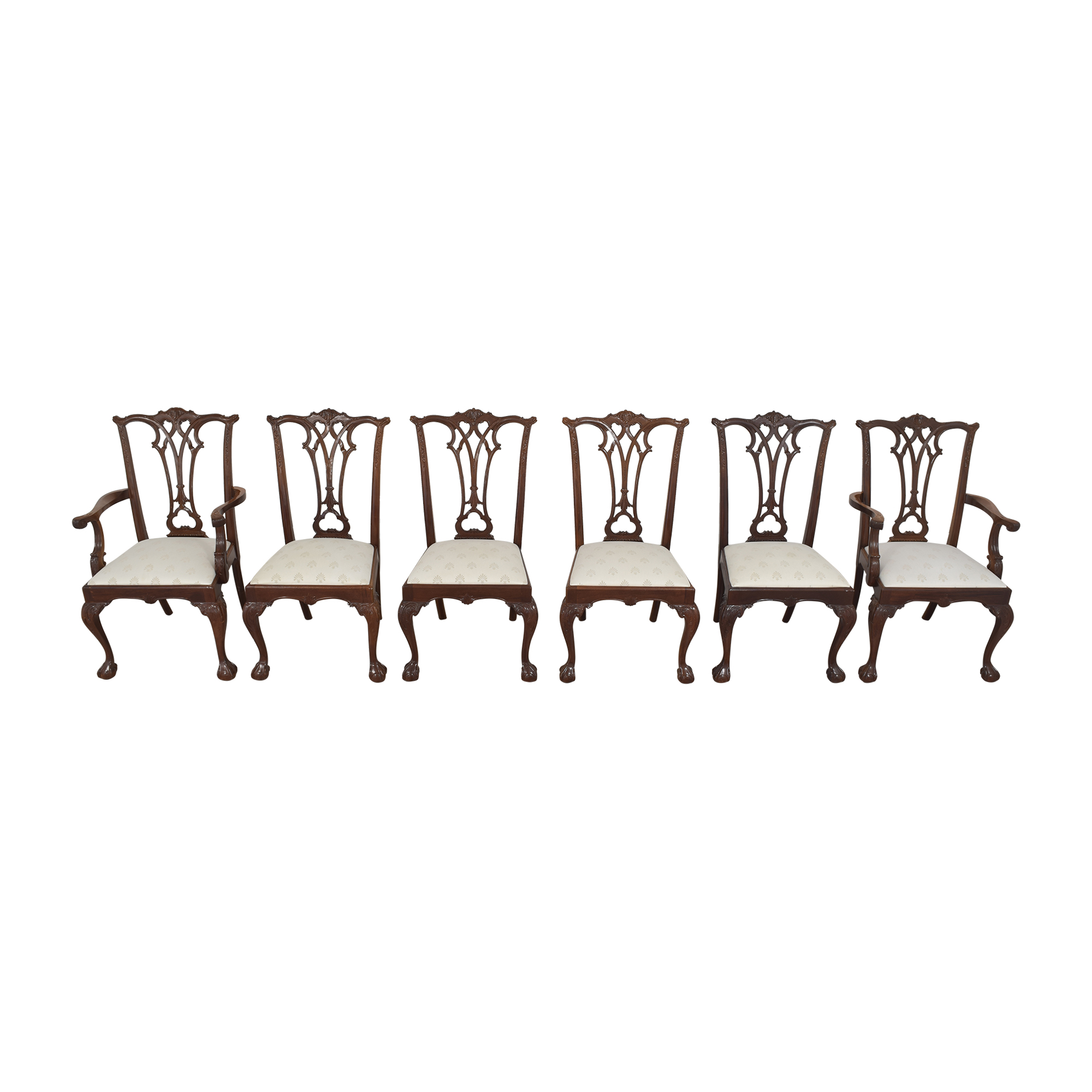 American Drew American Drew Chippendale Dining Chairs pa