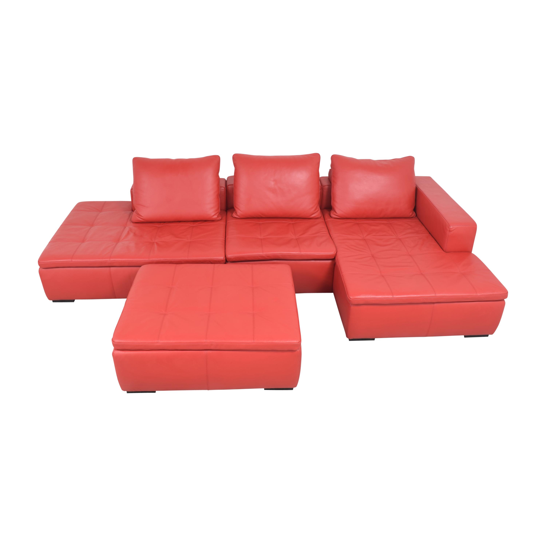 BoConcept BoConcept Mezzo Chaise Sectional Sofa and Ottoman