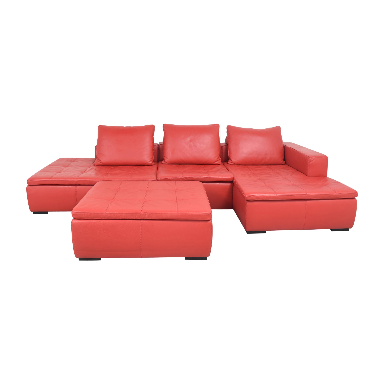 BoConcept BoConcept Mezzo Chaise Sectional Sofa and Ottoman on sale
