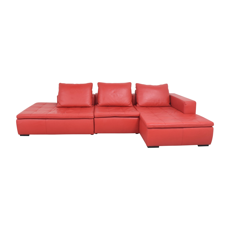 BoConcept BoConcept Mezzo Chaise Sectional Sofa and Ottoman for sale