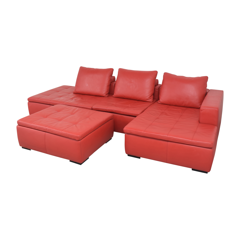 BoConcept BoConcept Mezzo Chaise Sectional Sofa and Ottoman pa