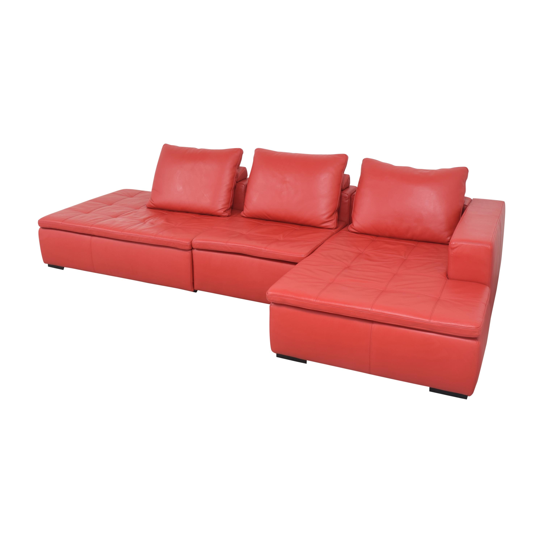 BoConcept BoConcept Mezzo Chaise Sectional Sofa and Ottoman nyc