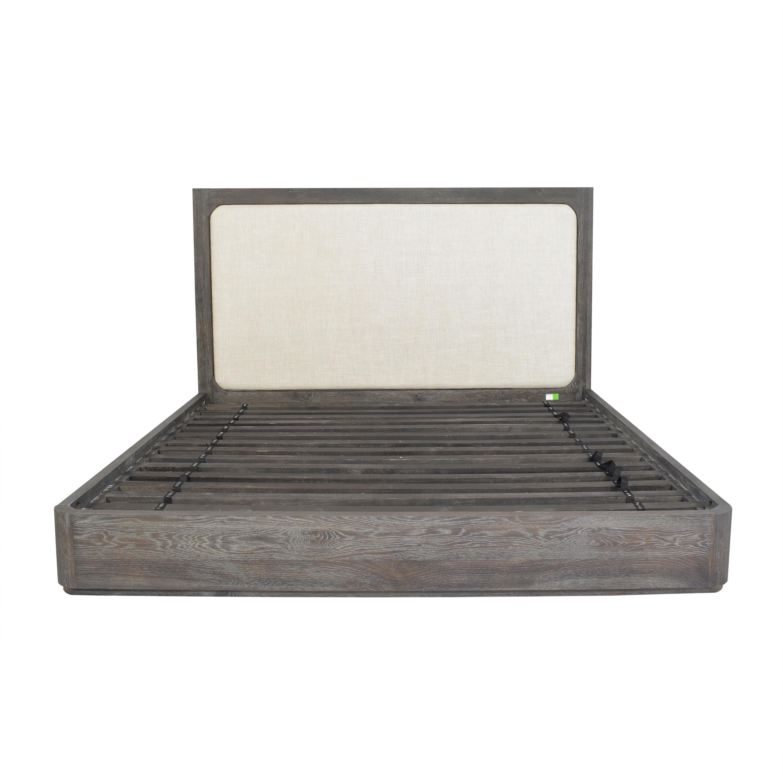Restoration Hardware Restoration Hardware Martens Upholstered Platform King Bed nyc