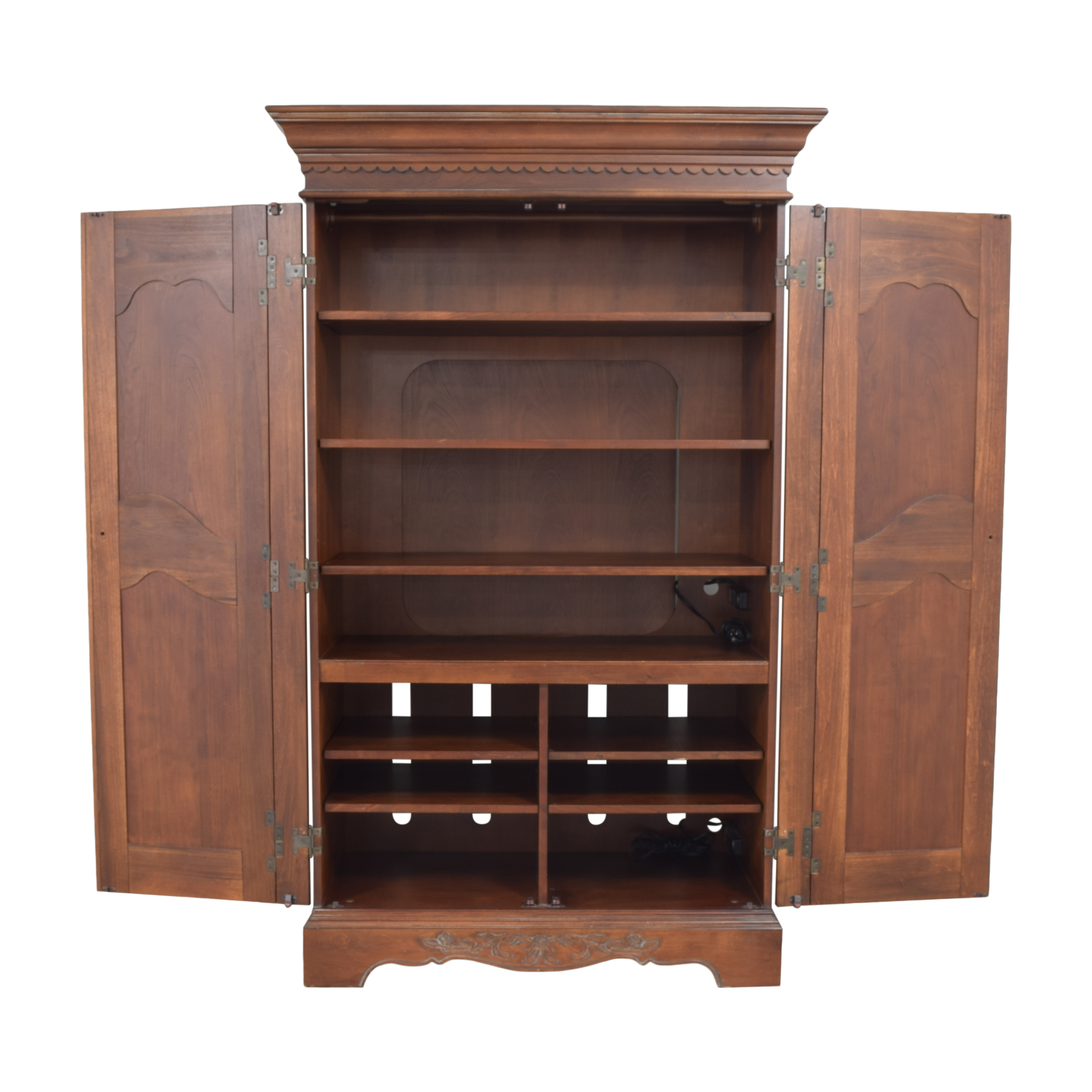 Two Door Carved Media Armoire price