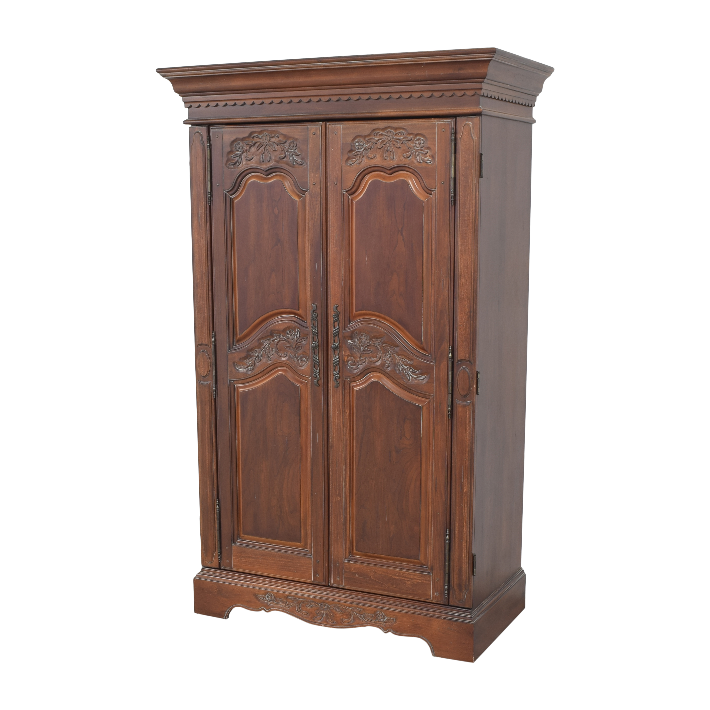 Two Door Carved Media Armoire nyc