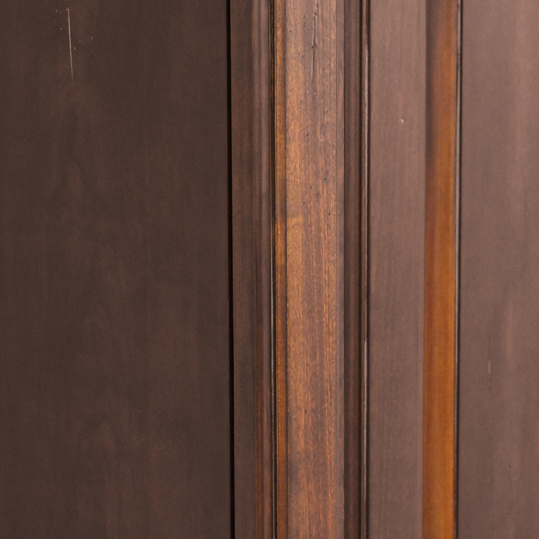 Two Door Carved Media Armoire nj