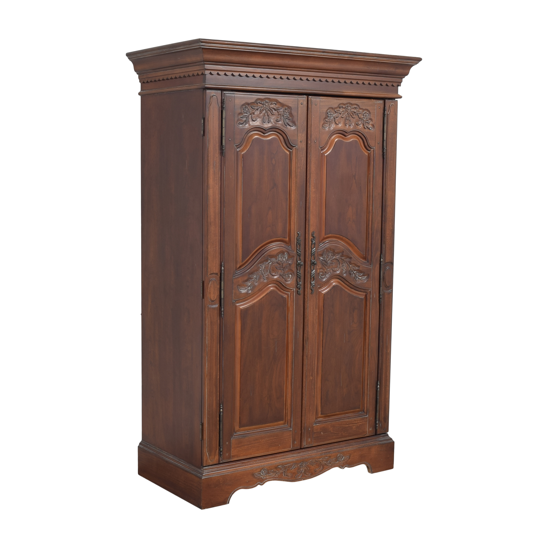 buy Two Door Carved Media Armoire