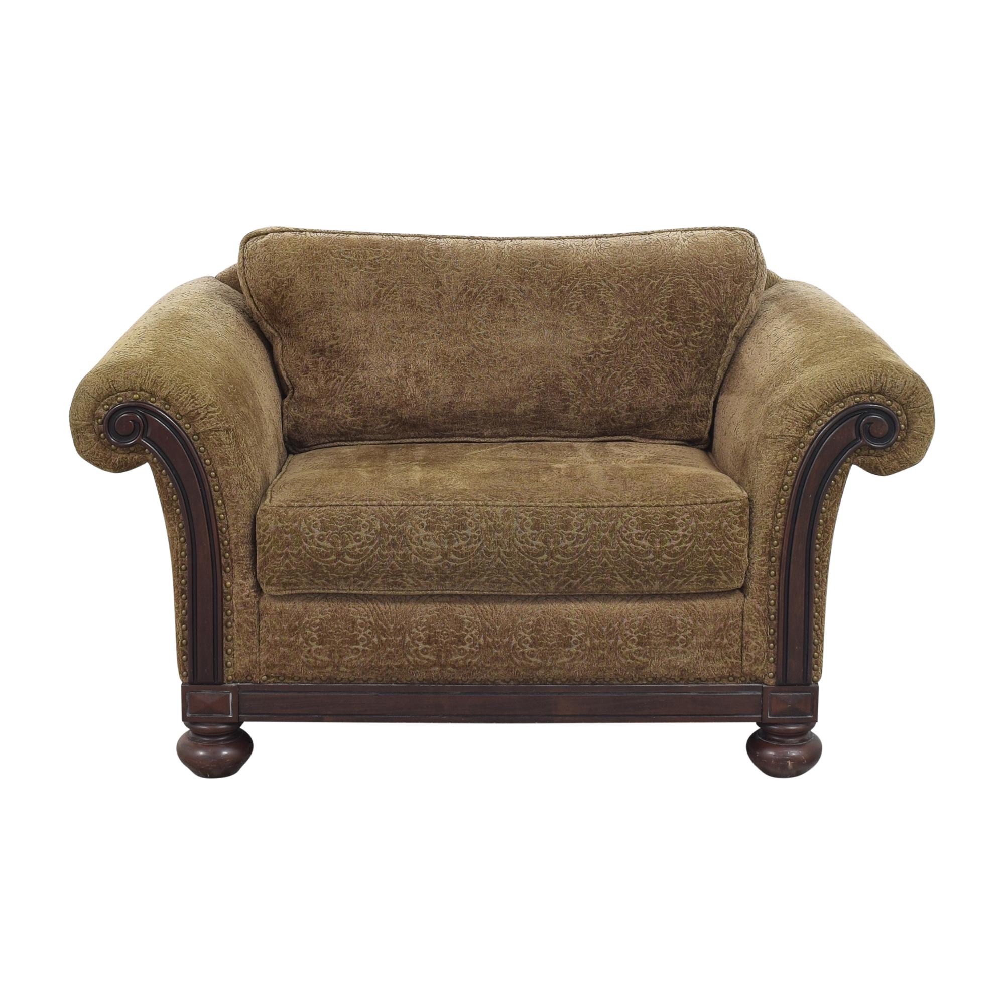 Bernhardt Bernhardt Roll Arm Chair and a Half discount
