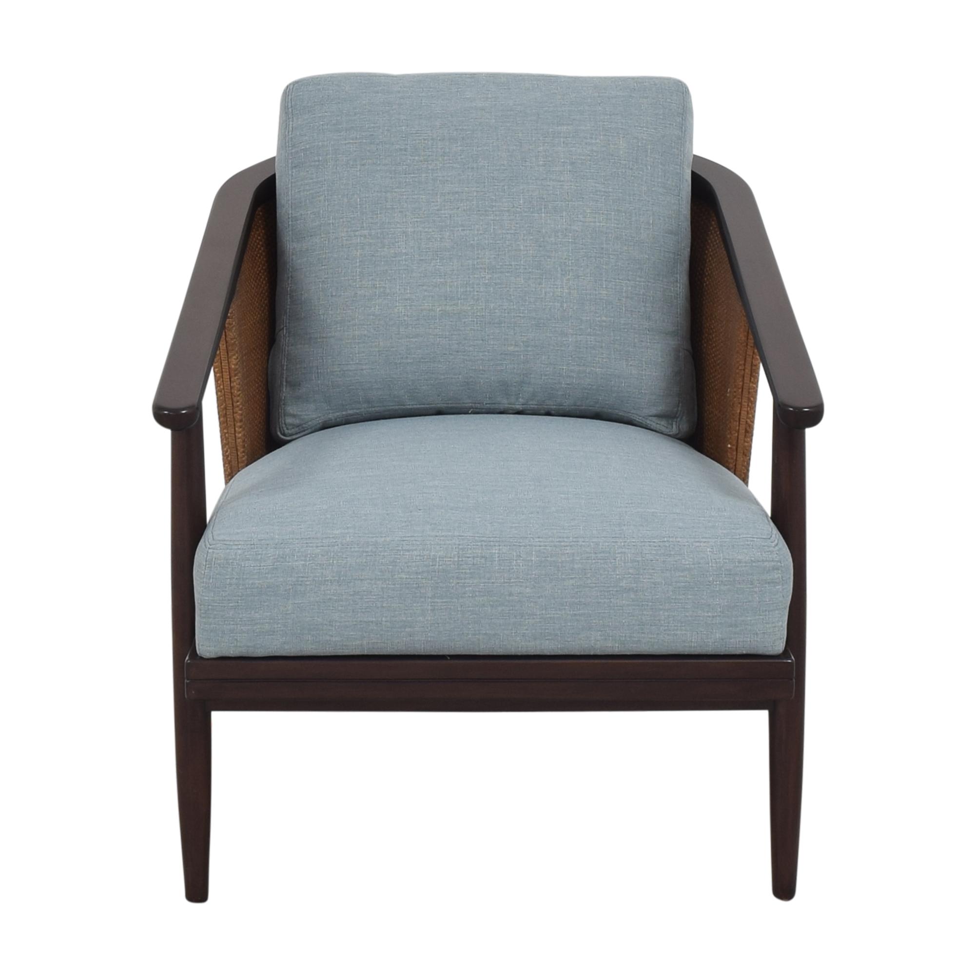 Ethan Allen Ethan Allen Lela Rattan Lounge Chair second hand