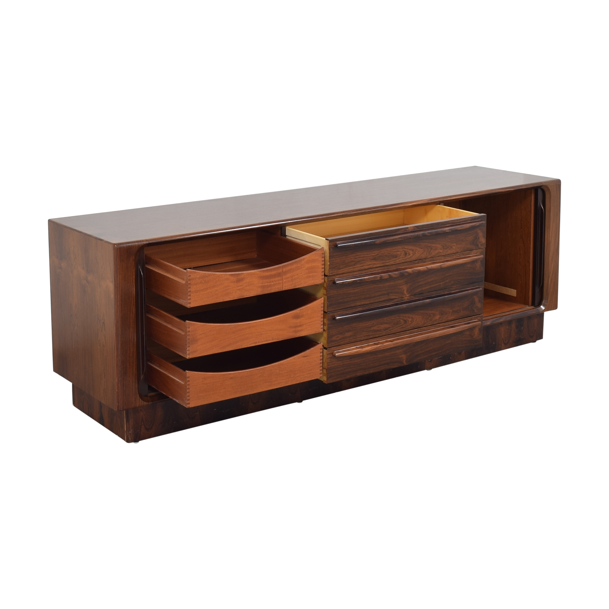 shop Maurice Villency Danish Triple Credenza Maurice Villency Cabinets & Sideboards