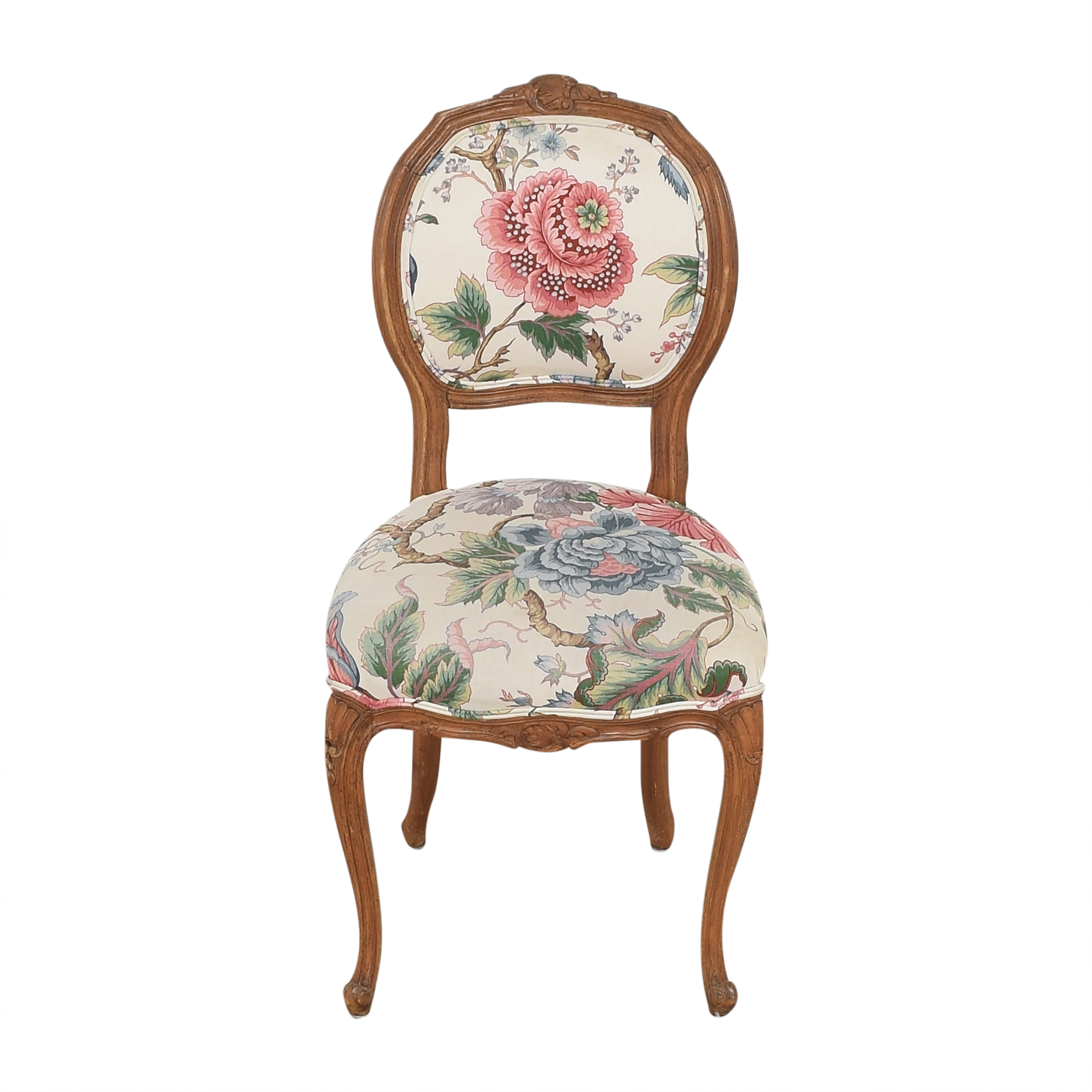 shop Floral Vintage-Style Upholstered Chair