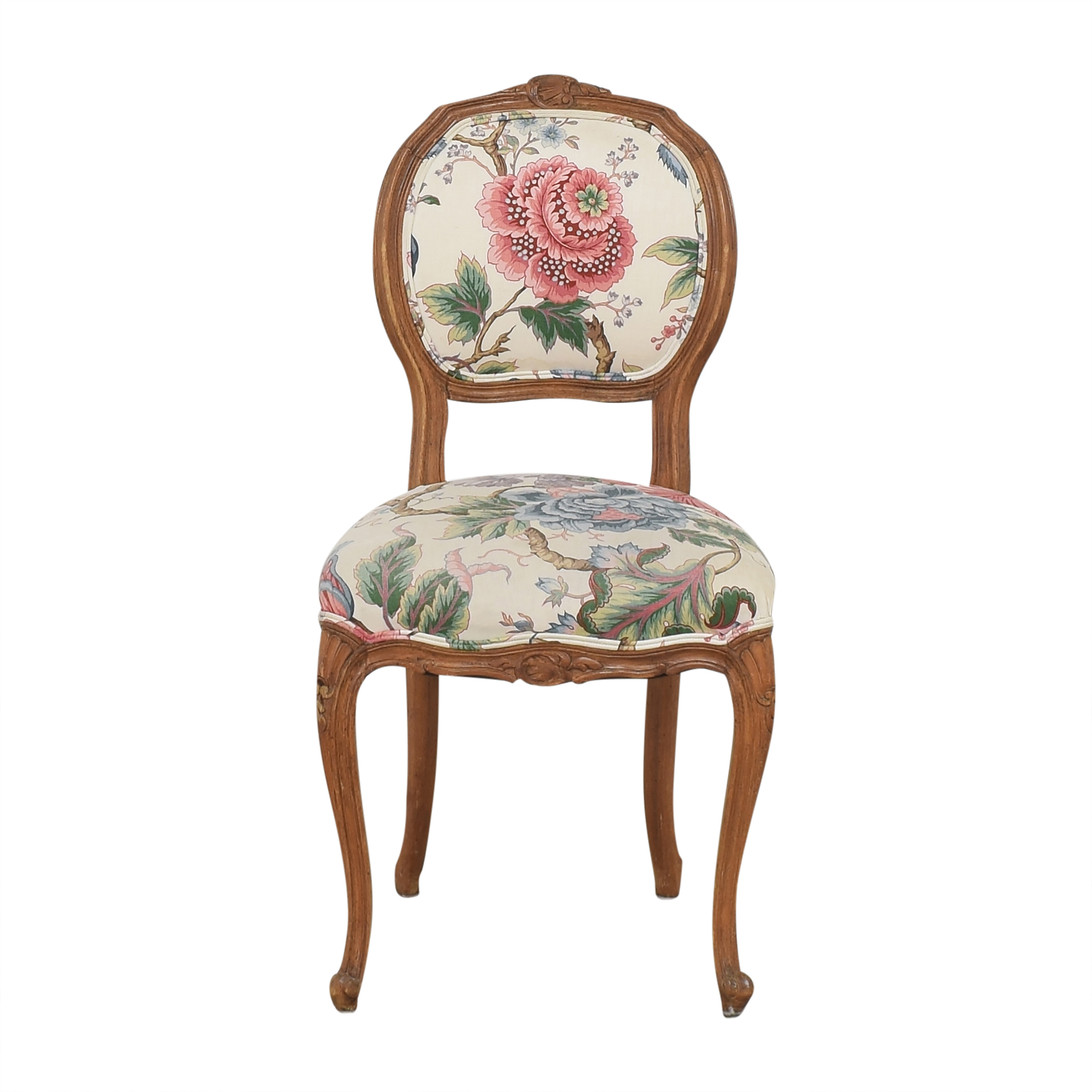 Floral Vintage-Style Upholstered Chair Chairs