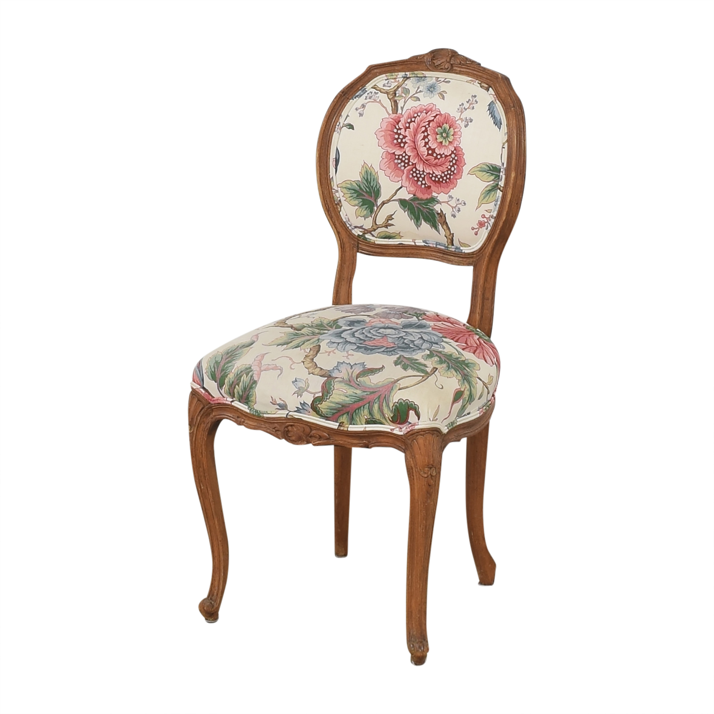 Floral Vintage-Style Upholstered Chair / Chairs