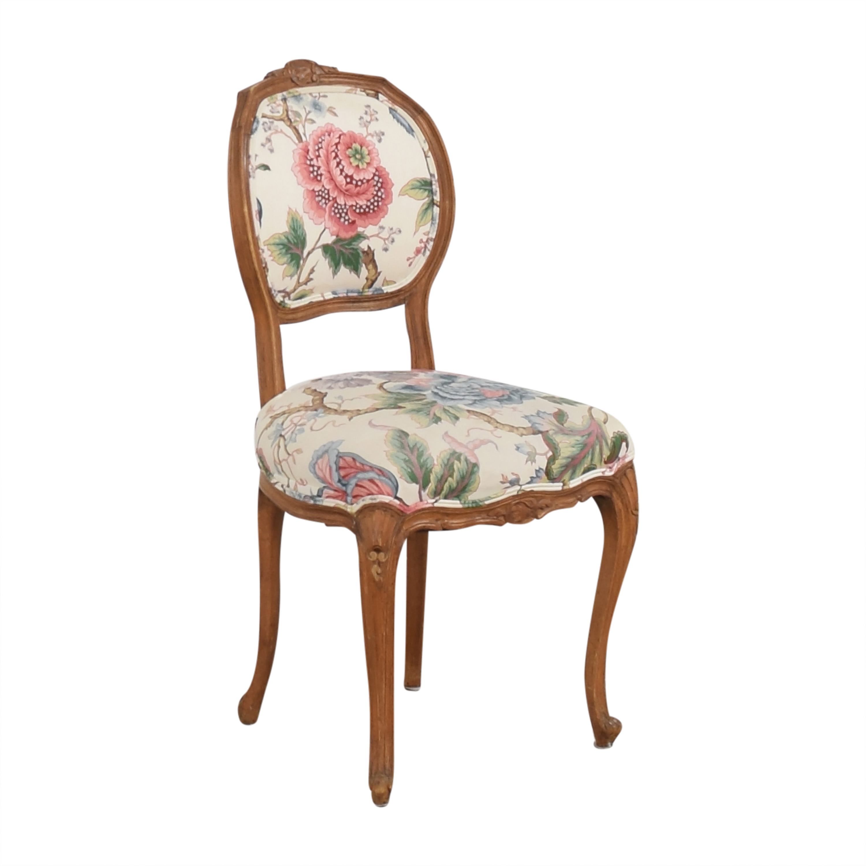 Floral Vintage-Style Upholstered Chair