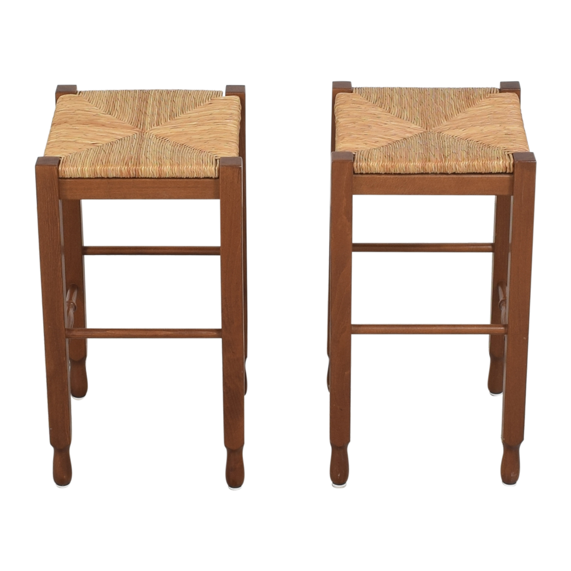Crate & Barrel Woven Backless Stools / Chairs