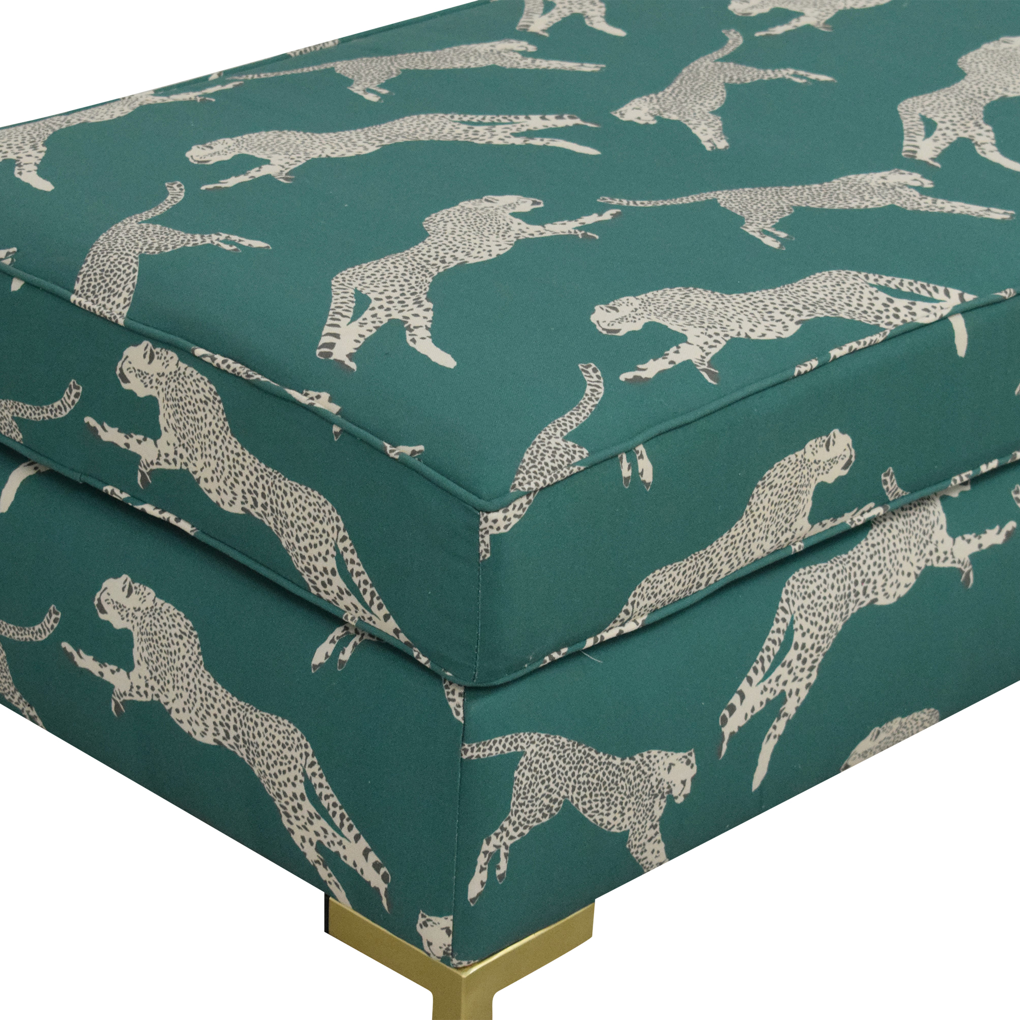 shop The Inside Polo Green Cheetah Modern Bench The Inside Benches