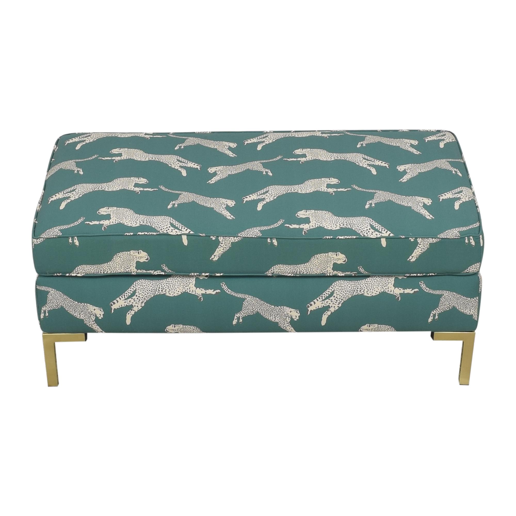 The Inside The Inside Polo Green Cheetah Modern Bench