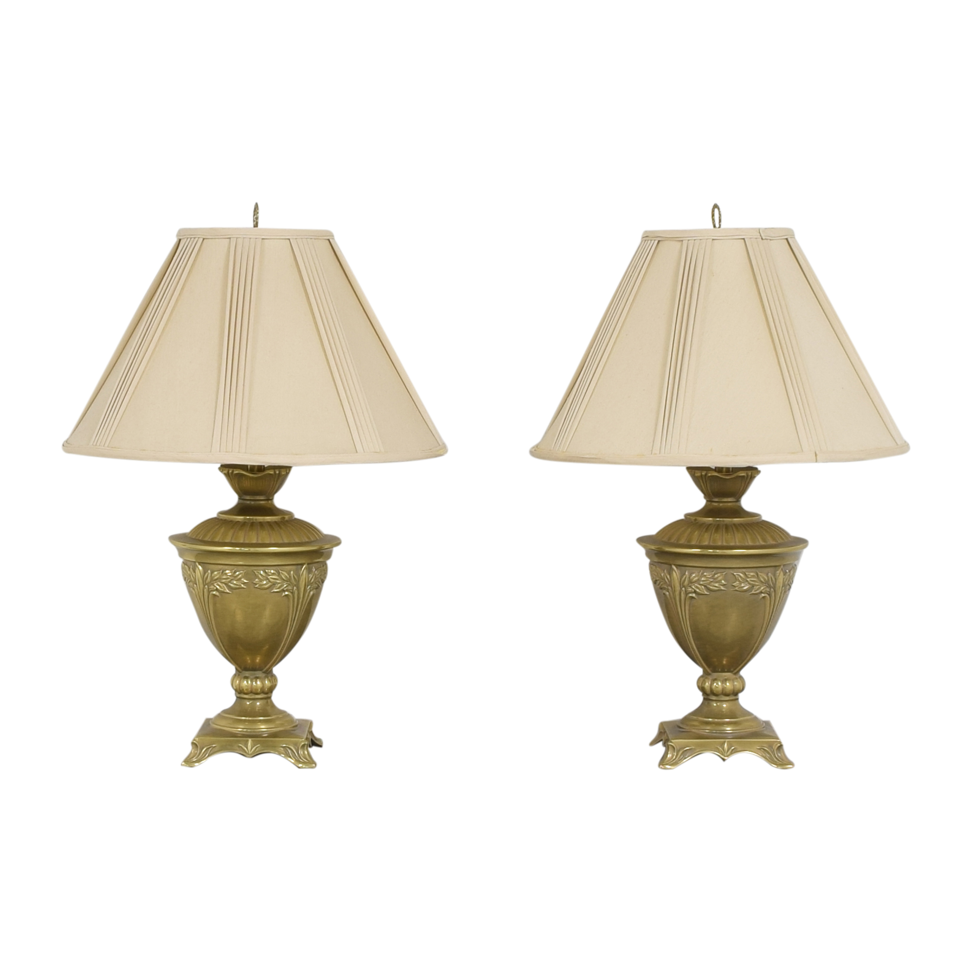 Ethan Allen Ethan Allen Urn Table Lamps gold and off white