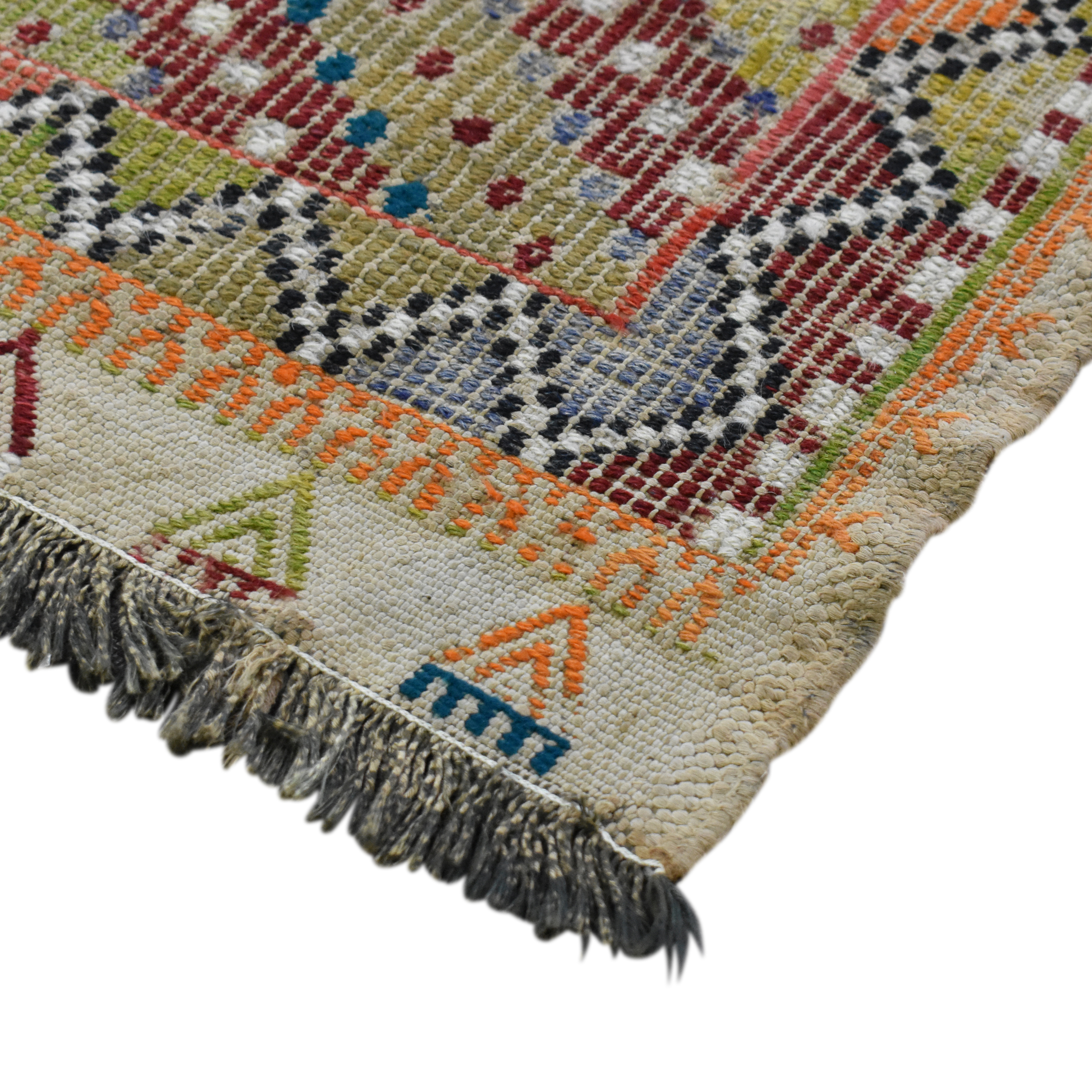 Double Knot Double Knot Kilim Rug used