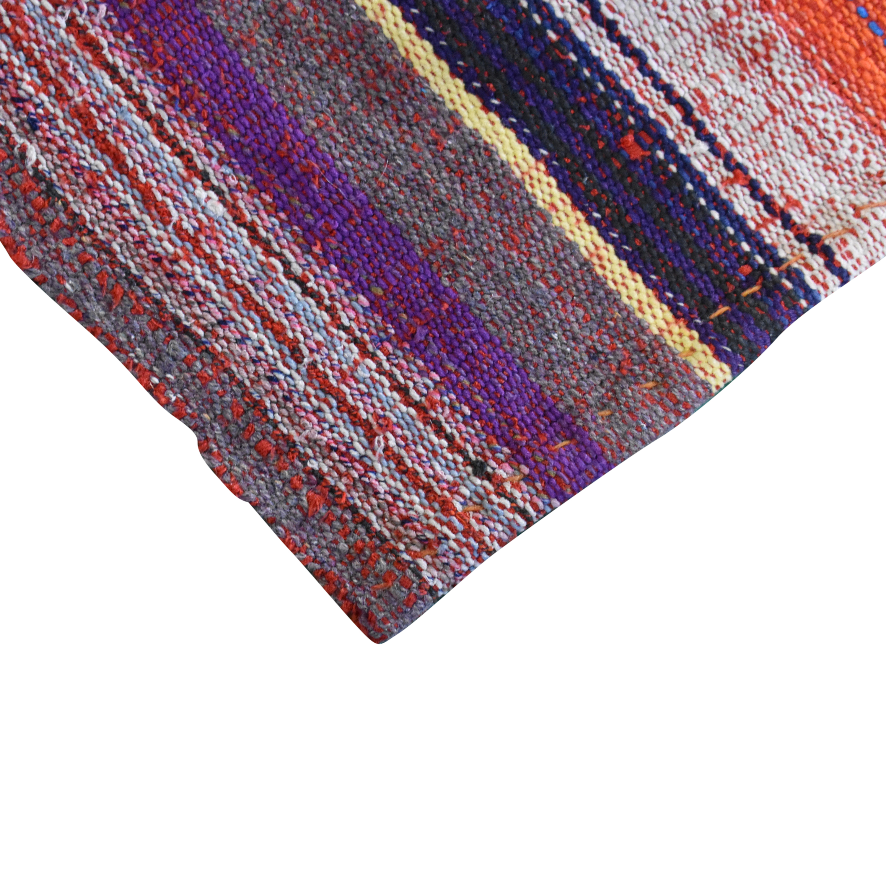Double Knot Double Knot Striped Kilim Area Rug second hand