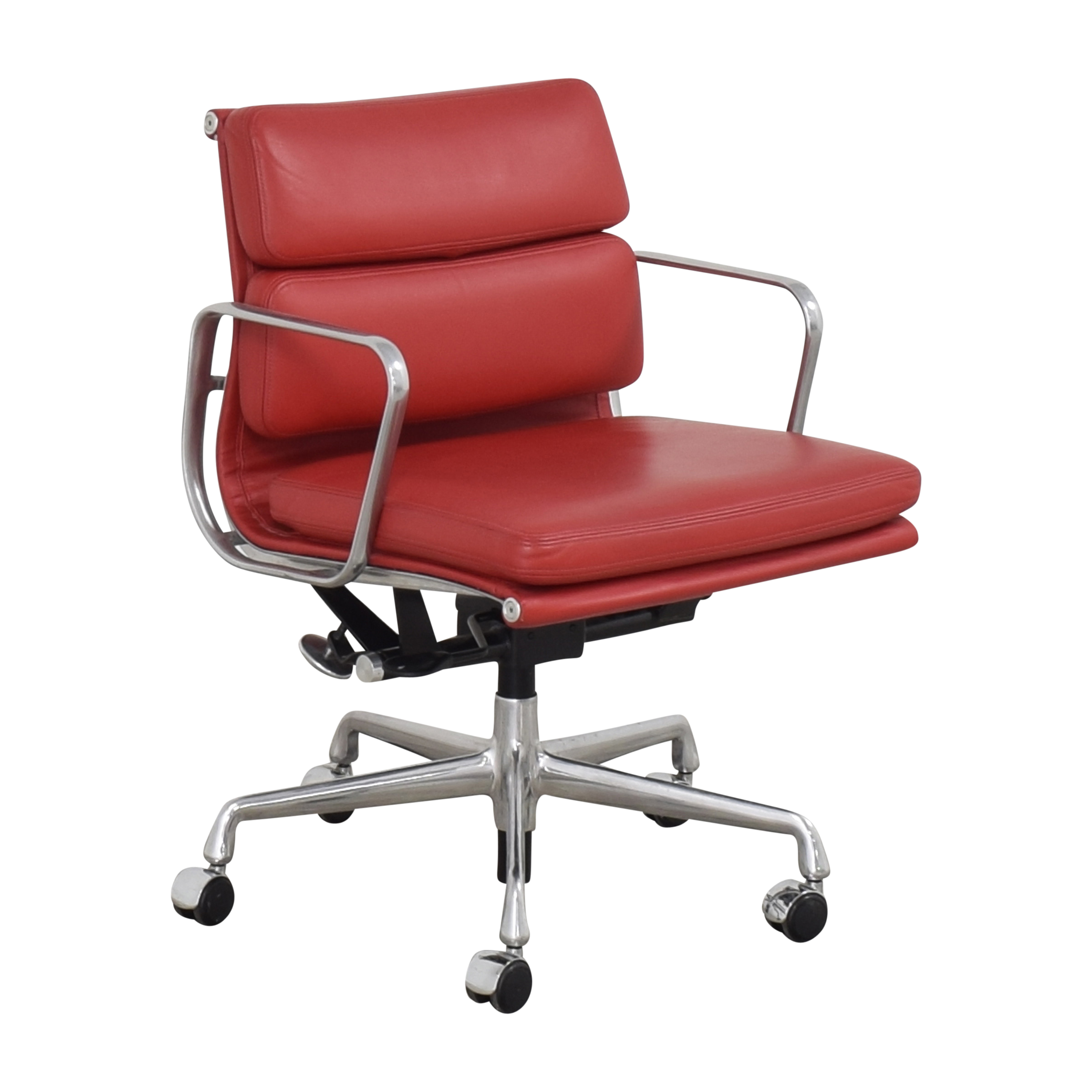 Herman Miller Herman Miller Eames Soft Pad Management Chair red and silver