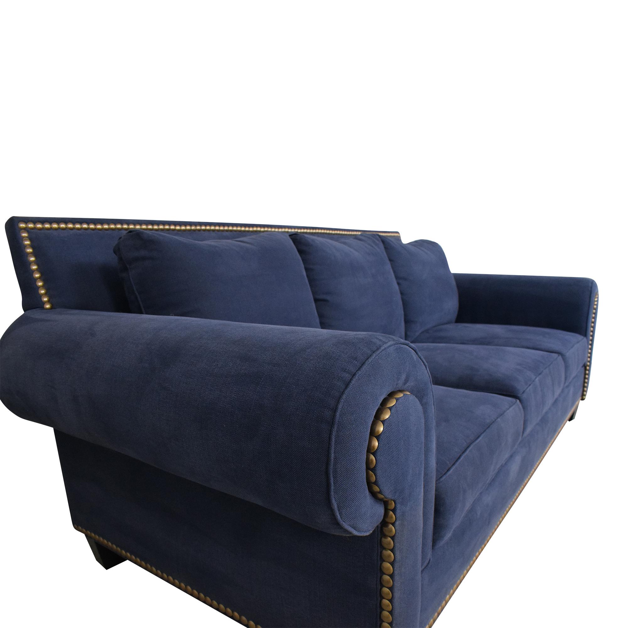 Three Cushion Nailhead Trim Sofa / Classic Sofas