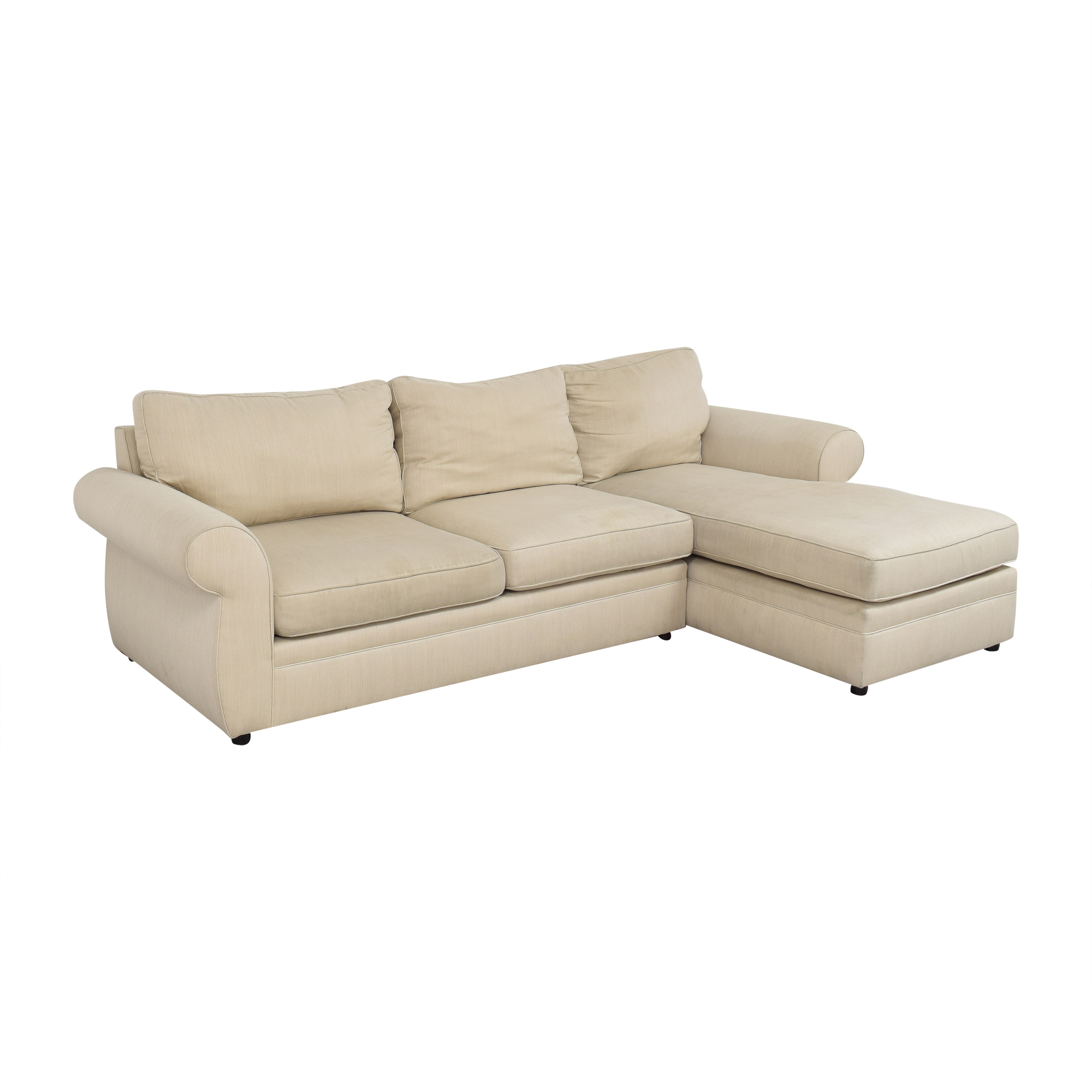 Pottery Barn Pearce Roll Arm Upholstered Chaise Sectional Sofa Pottery Barn