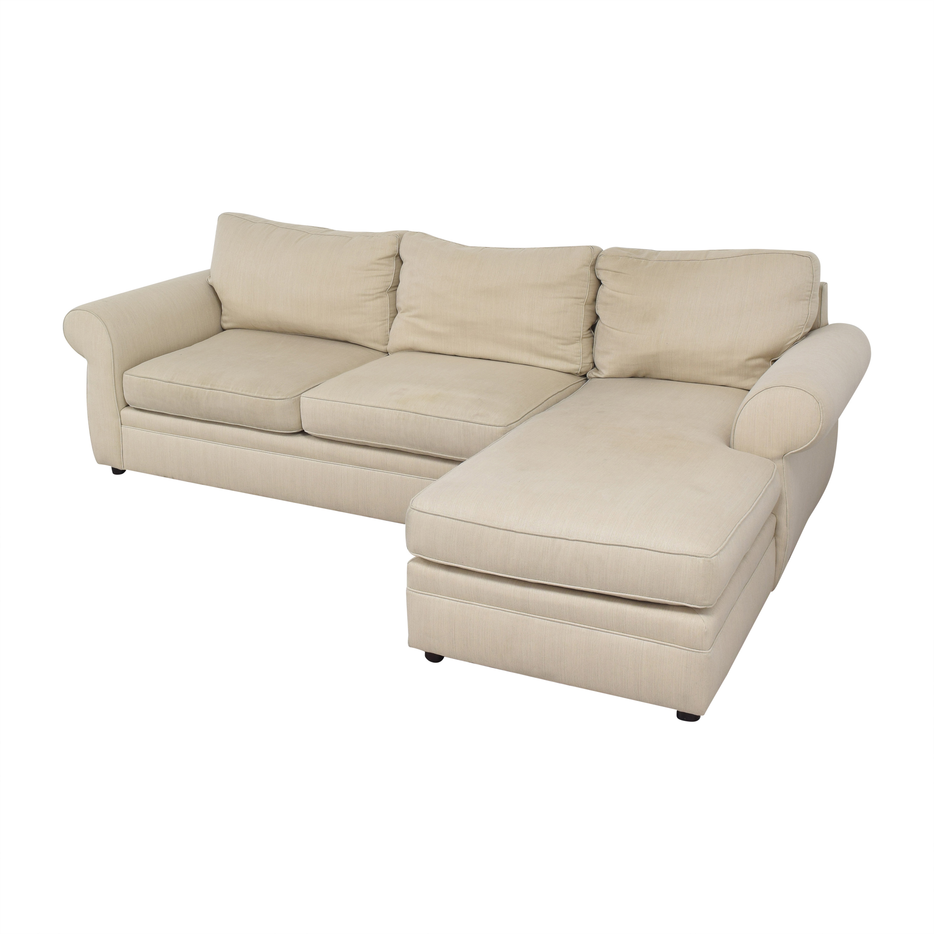 shop Pottery Barn Pearce Roll Arm Upholstered Chaise Sectional Sofa Pottery Barn Sofas