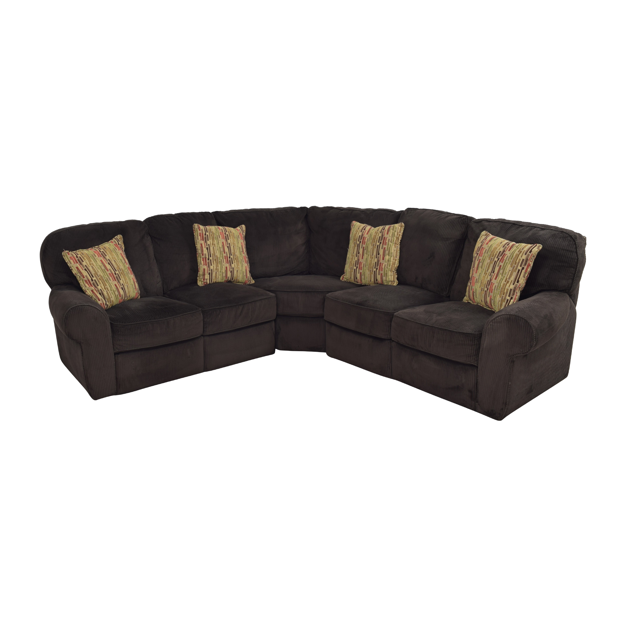 Lane Furniture Lane Furniture Megan Three Piece Reclining Sectional dark brown