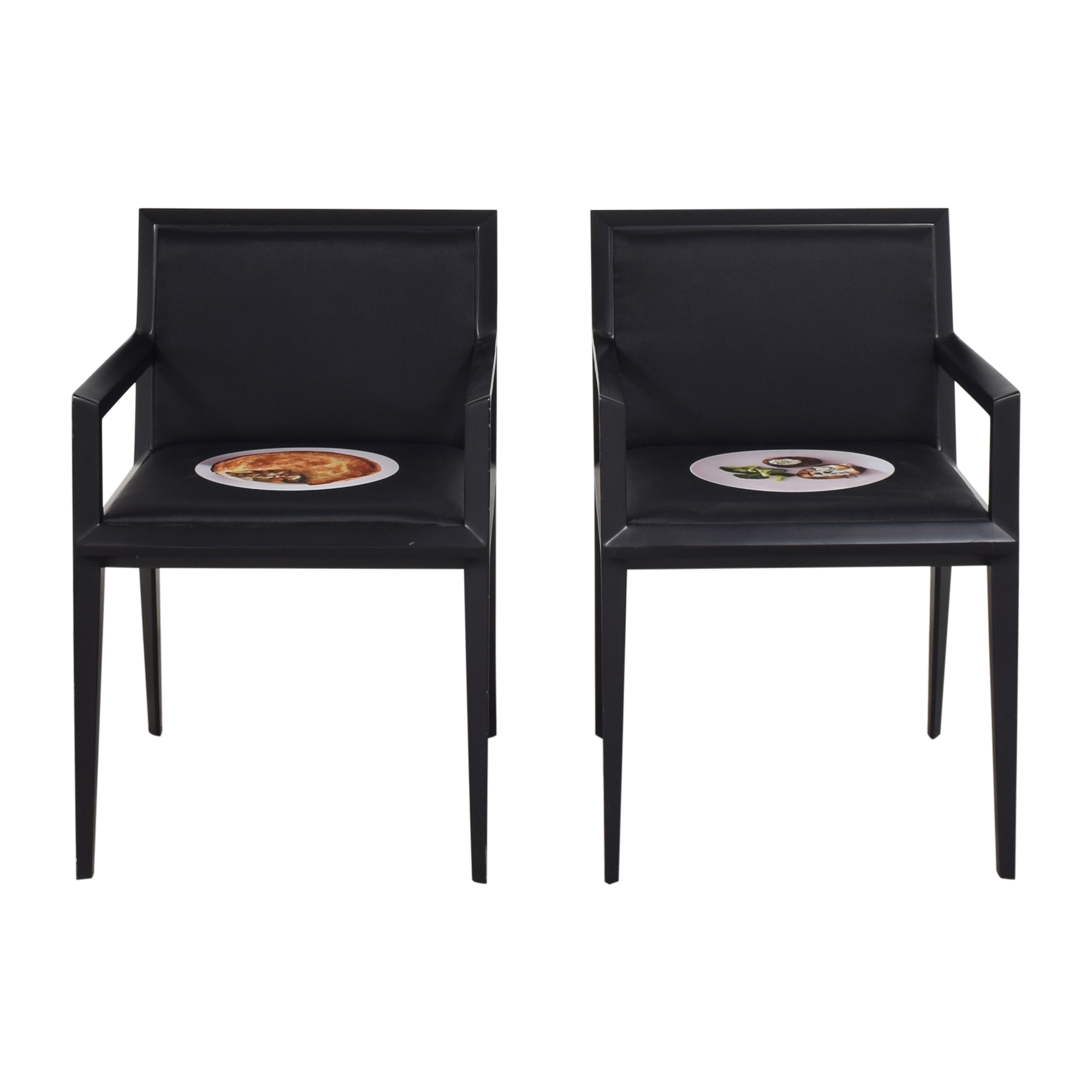 Bernhardt Bernhardt Custom Graphic Whisper Arm Chairs nyc