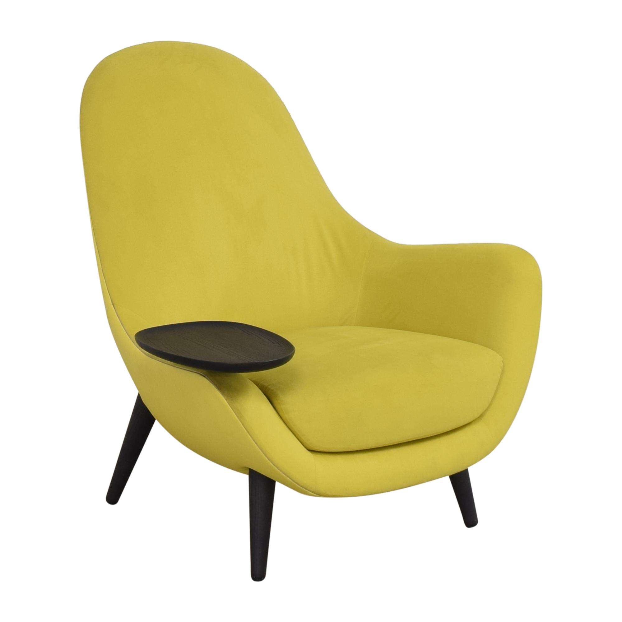 Poliform Poliform Mad King Chair yellow and black