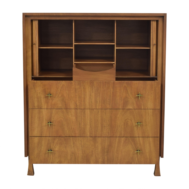 buy John Widdicomb Co. Tambour Door Gentleman's Chest John Widdicomb Co. Storage