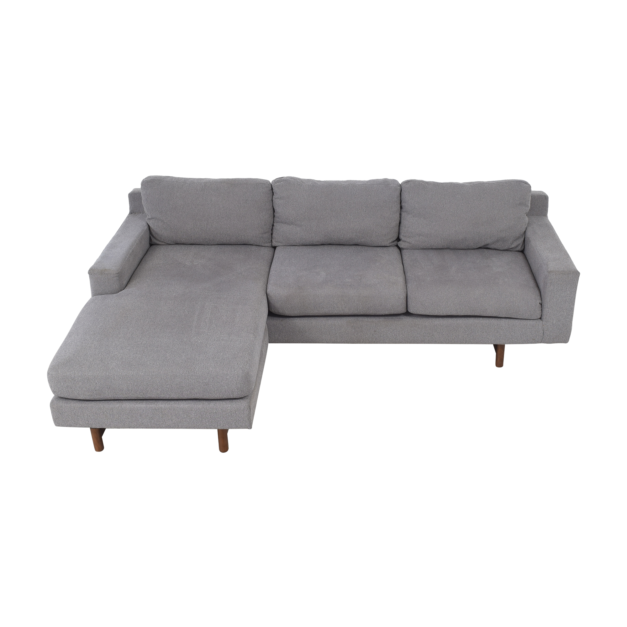 West Elm West Elm Eddy Reversible Sectional gray and brown