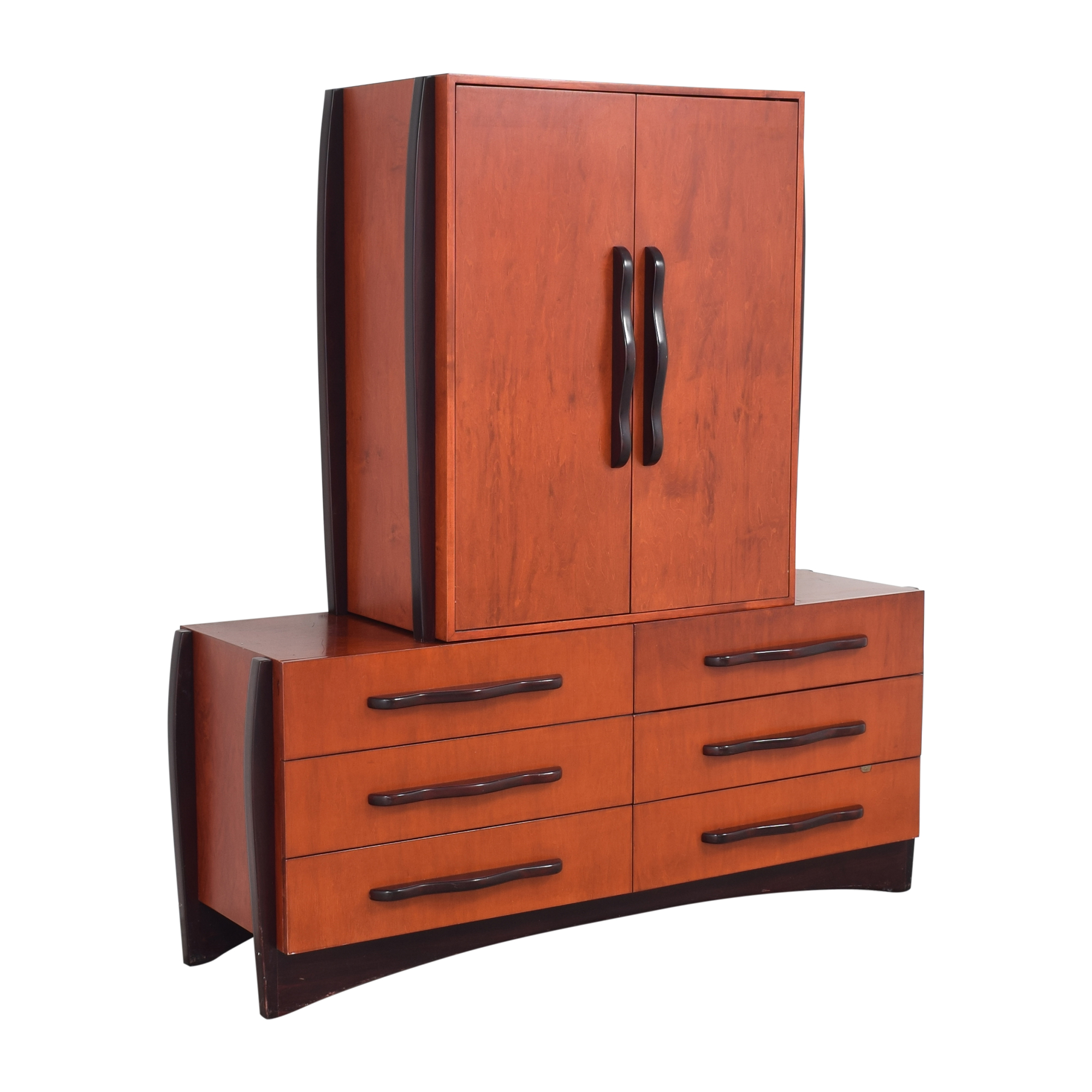 Dialogica Dialogica Malindi Double Dresser with Media Cabinet  for sale