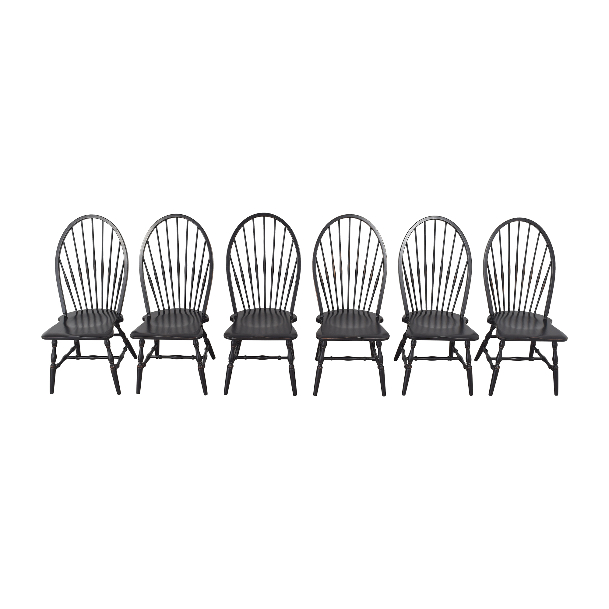Country Willow Windsor Dining Chairs sale