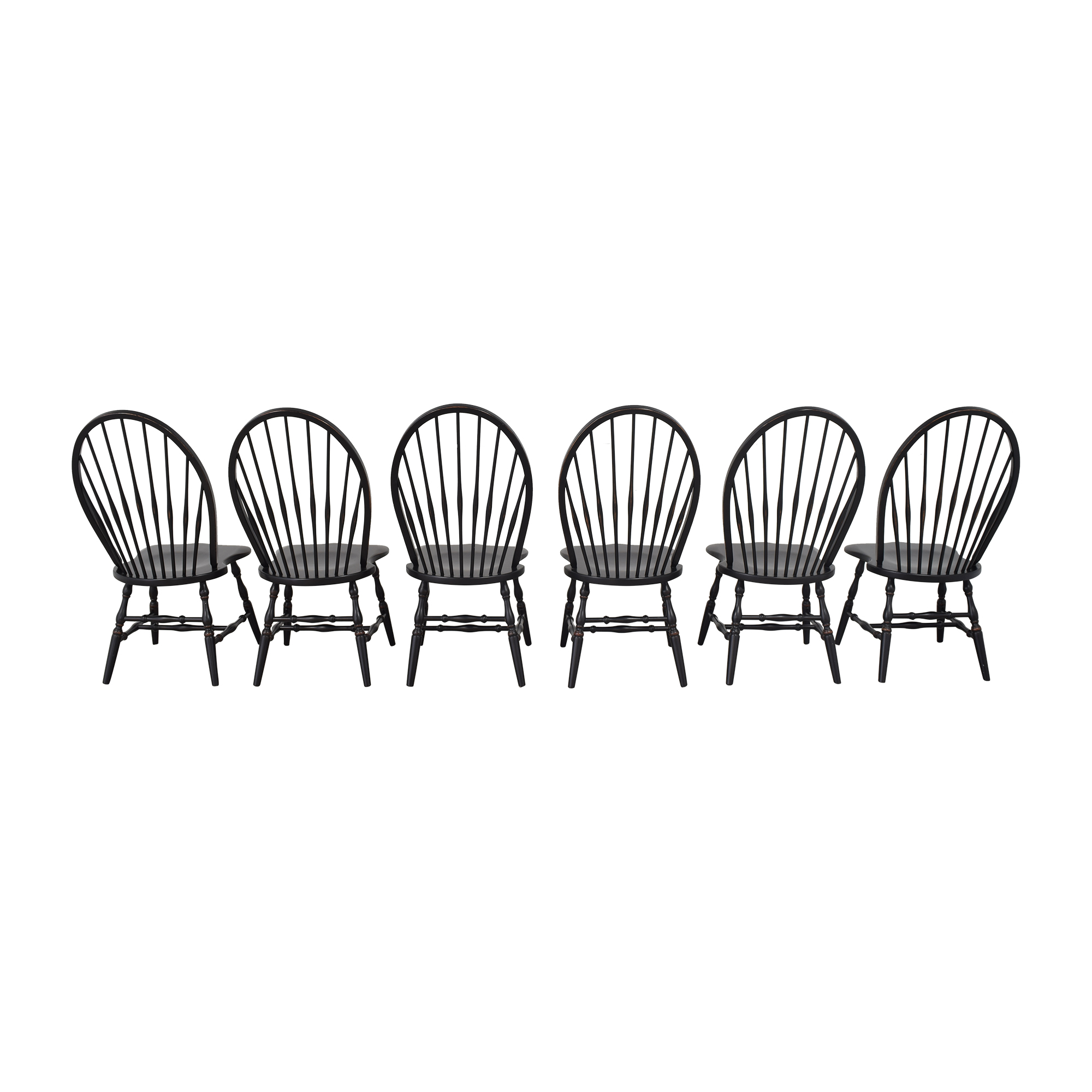 Country Willow Country Willow Windsor Dining Chairs second hand