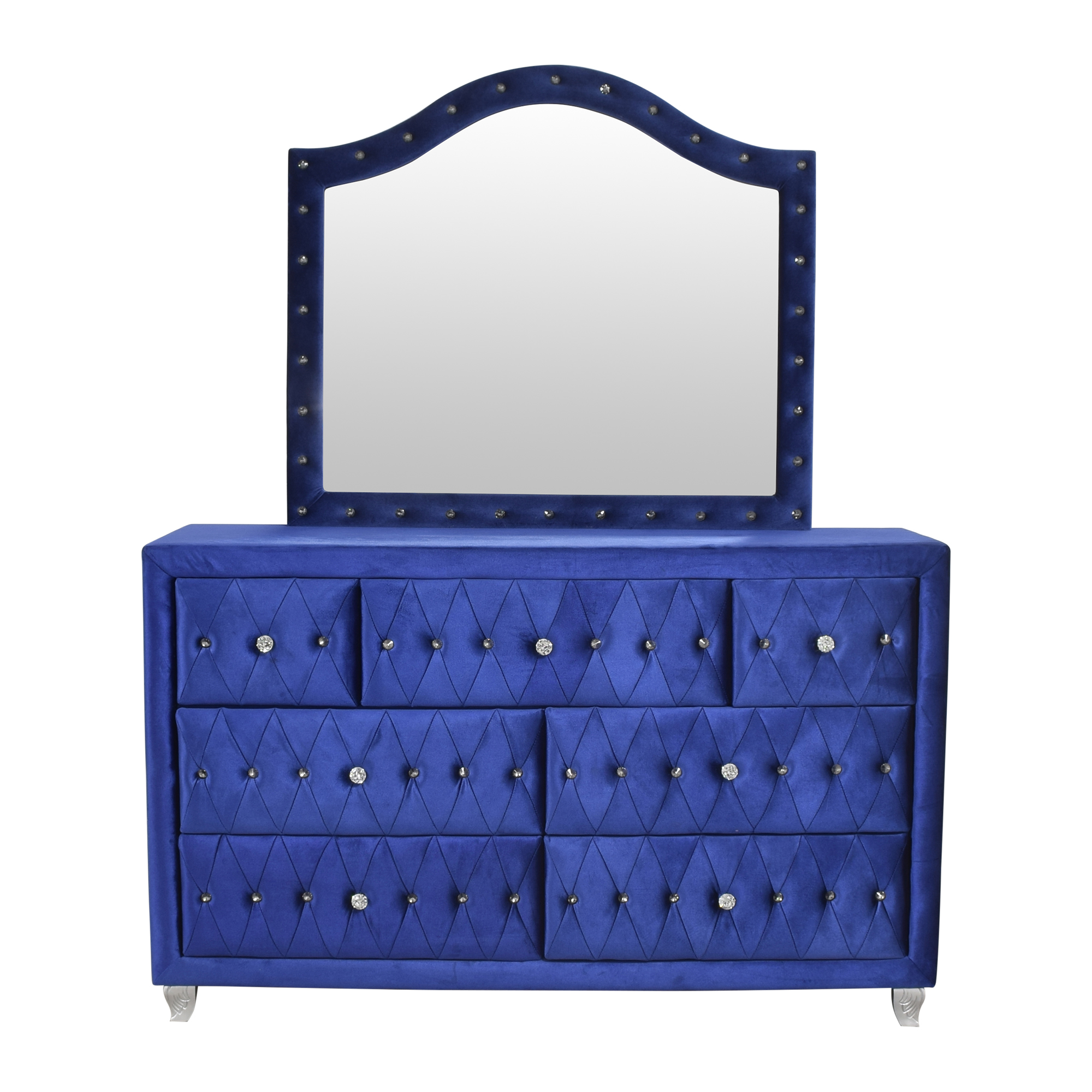 Upholstered Double Dresser with Mirror nyc