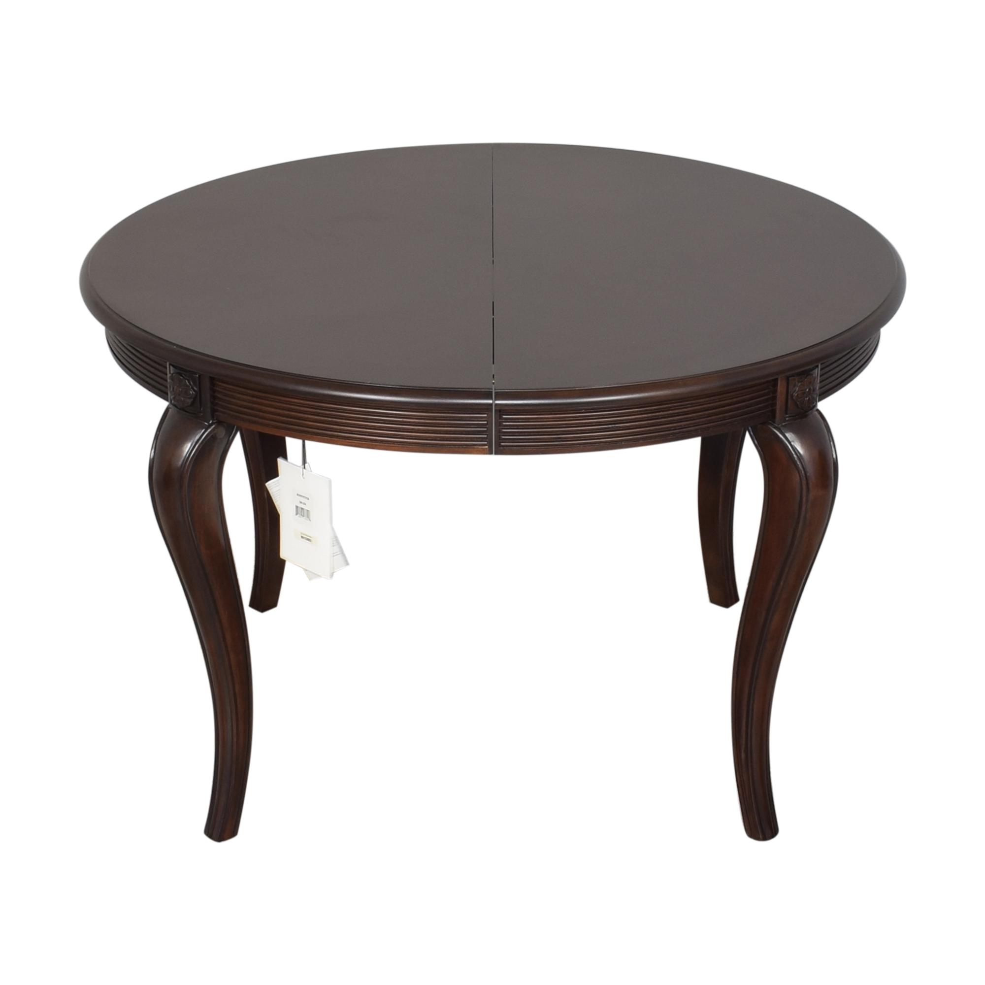 Bernhardt Bernhardt Round Extendable Dining Table second hand