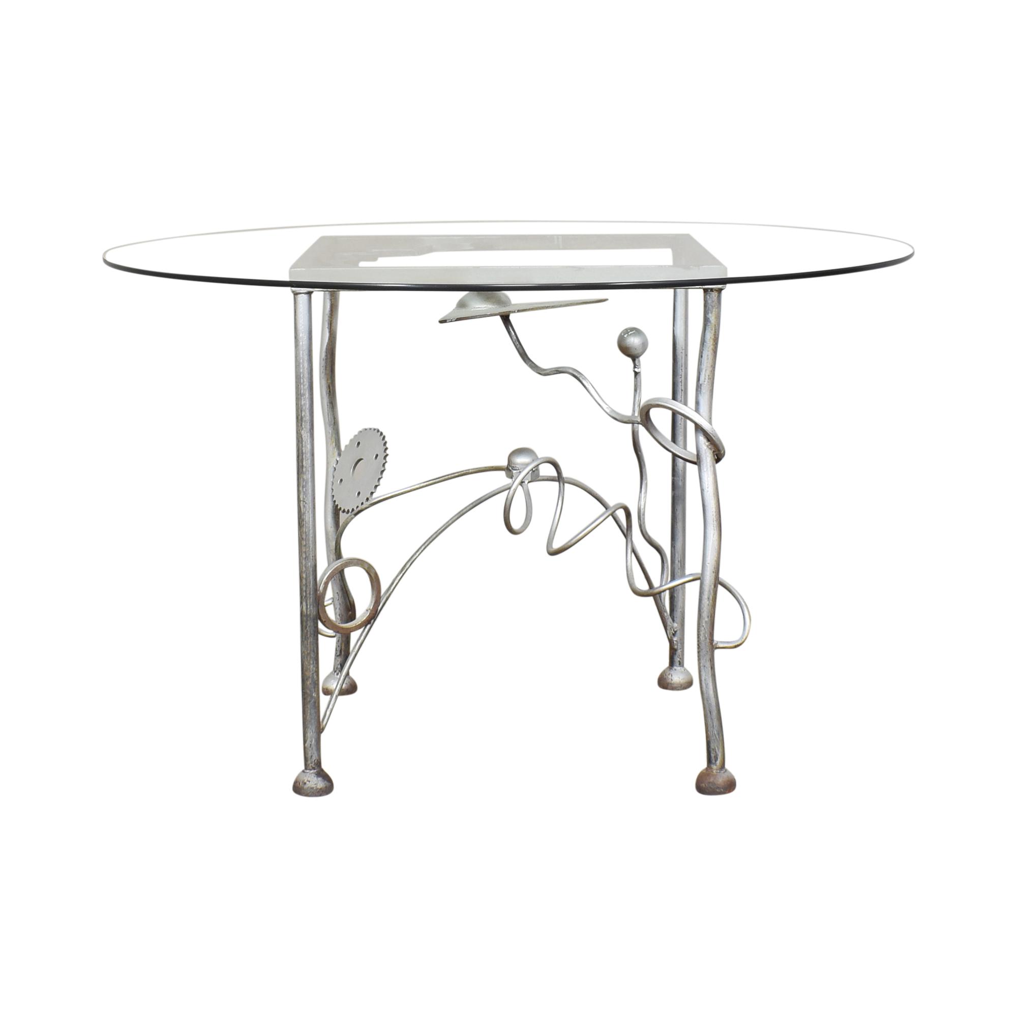 shop Mario Villa Round Transparent Dining Table